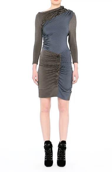 Gathered Jersey Jacquard Dress, video thumbnail