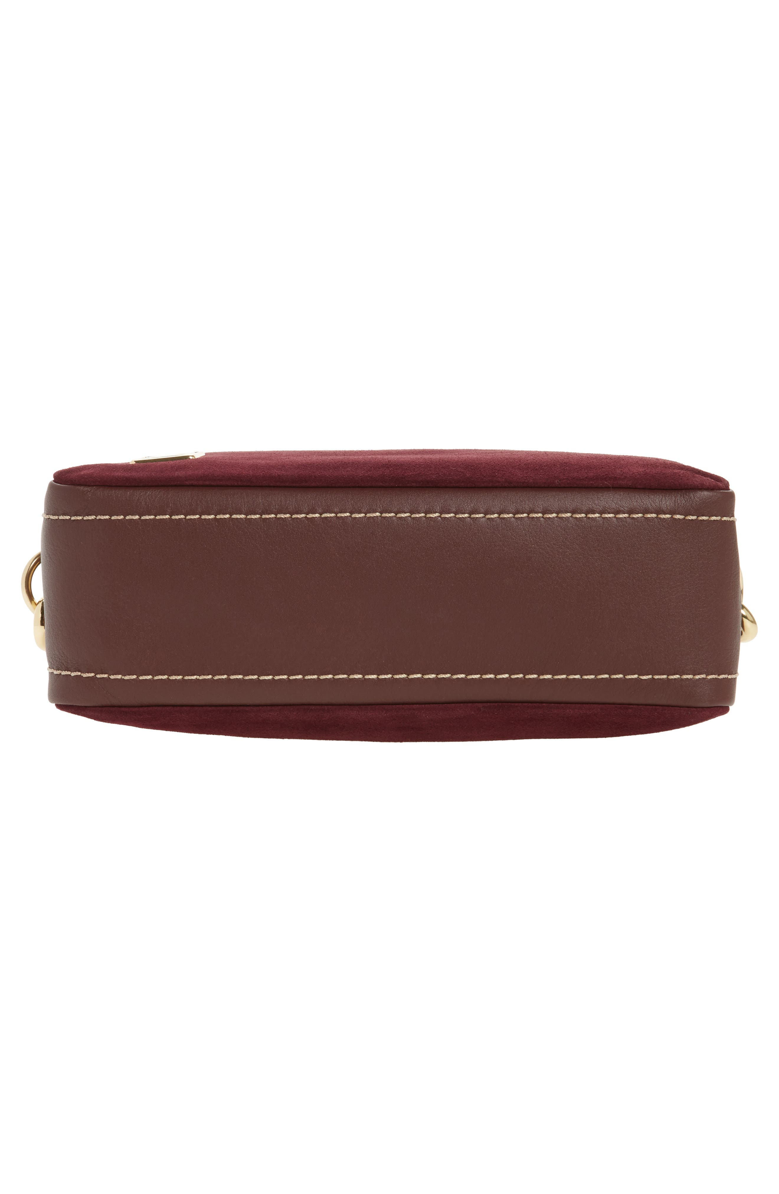 The Squeeze Suede & Leather Shoulder Bag,                             Alternate thumbnail 18, color,