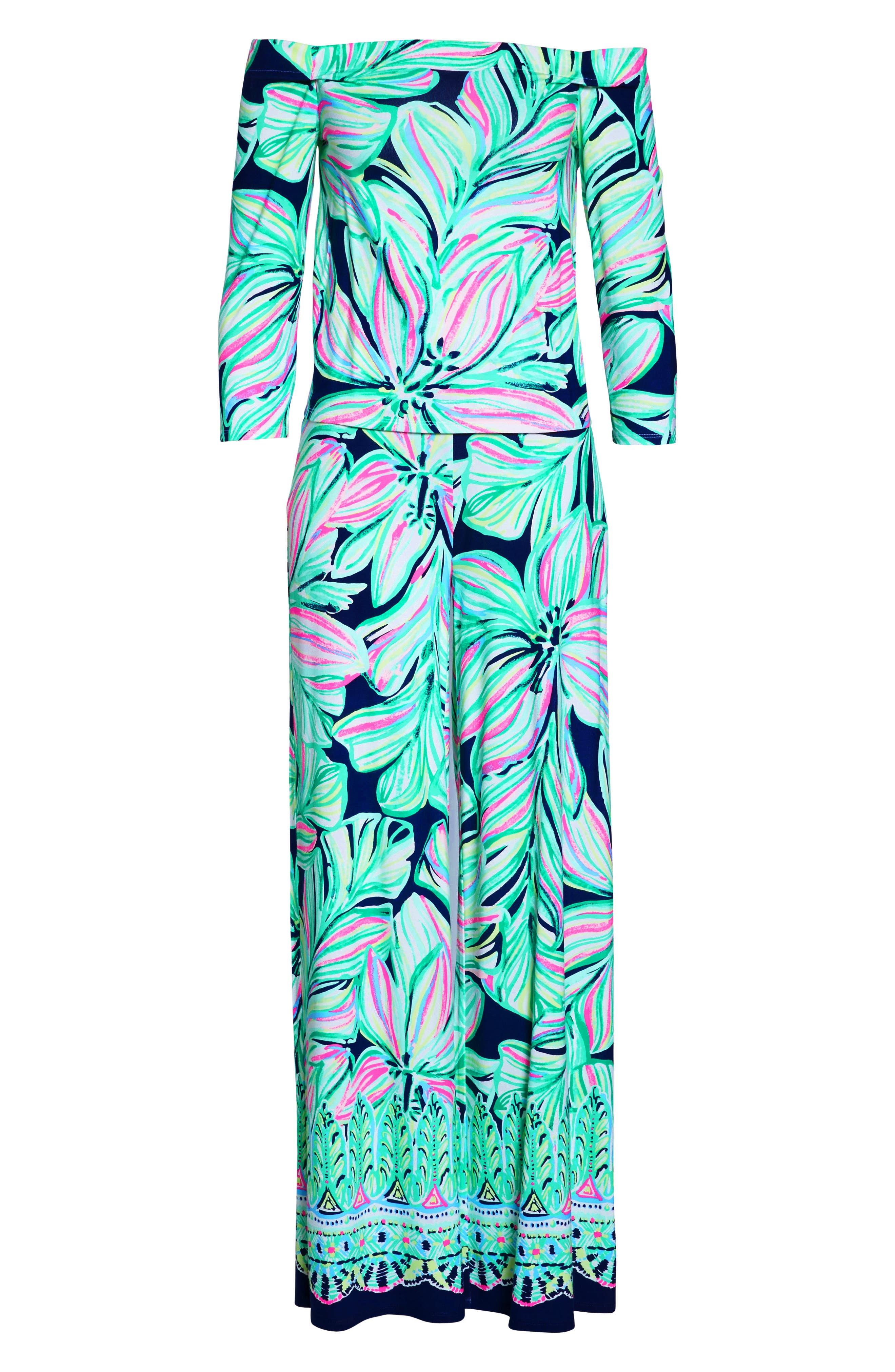 Weslee Floral Top & Pants,                             Alternate thumbnail 8, color,