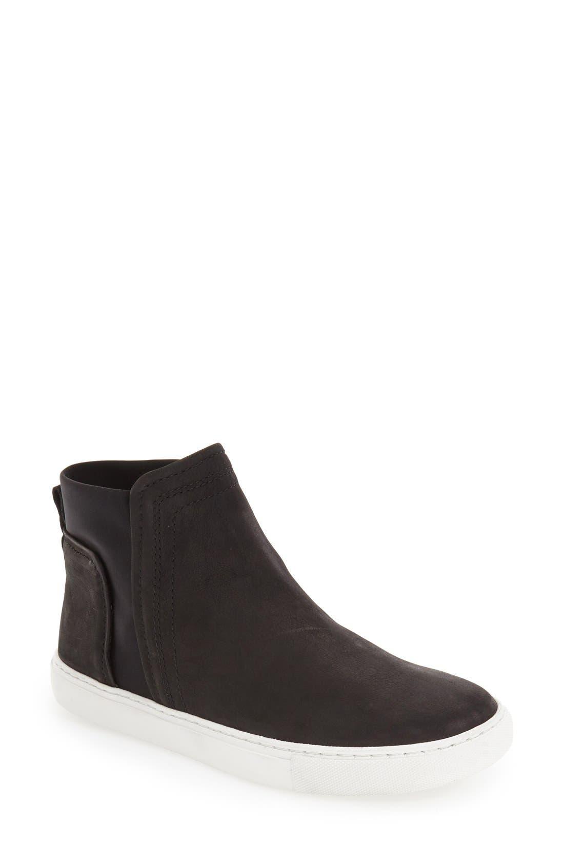 'Ken' Leather Slip-On Sneaker,                             Main thumbnail 1, color,                             001