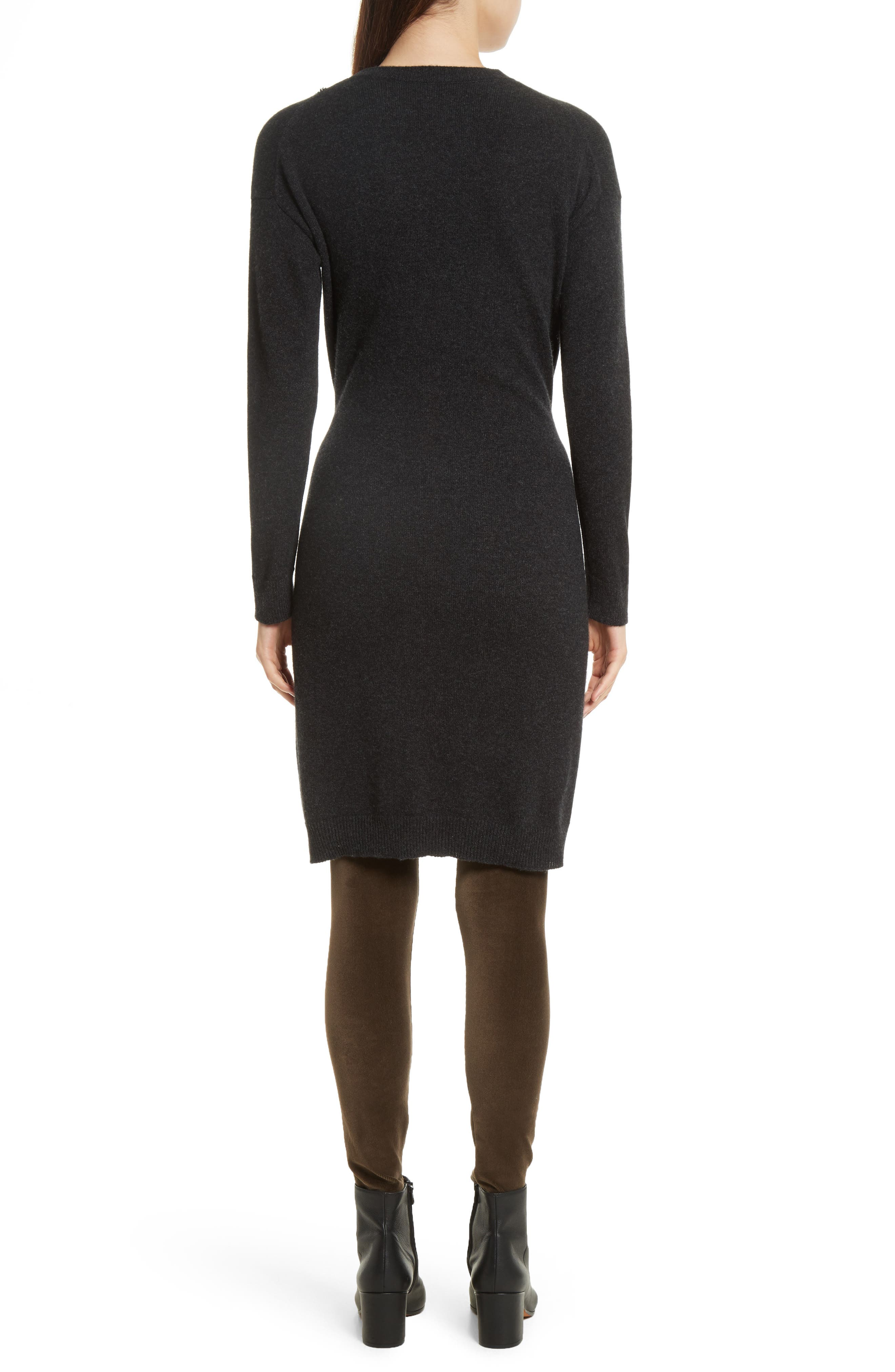 Long Sleeve Tie Waist Sweater Dress,                             Alternate thumbnail 2, color,                             064