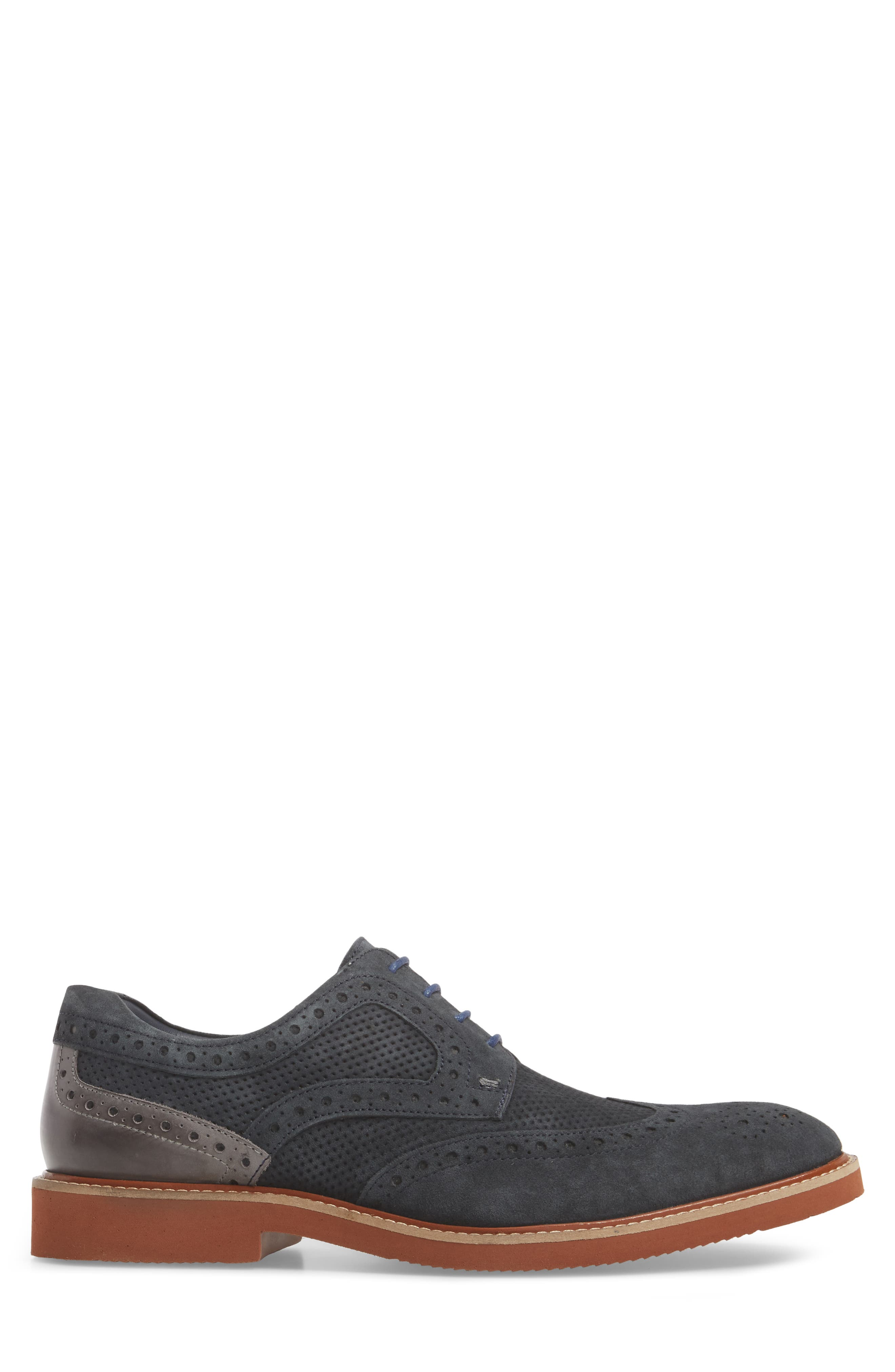 Shaw Perforated Wingtip Derby,                             Alternate thumbnail 6, color,