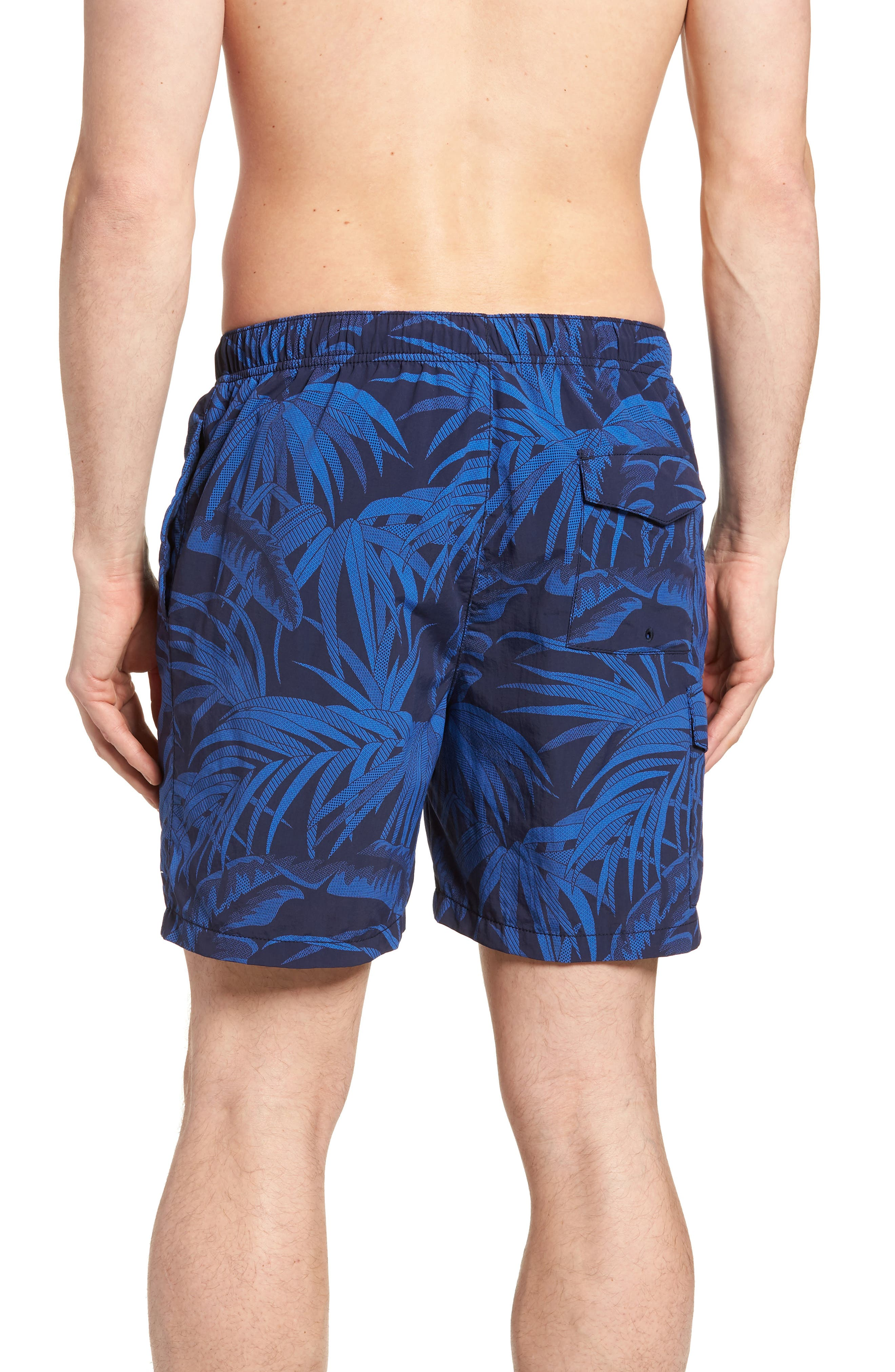 Naples Midnight Flora Swim Trunks,                             Alternate thumbnail 2, color,                             400