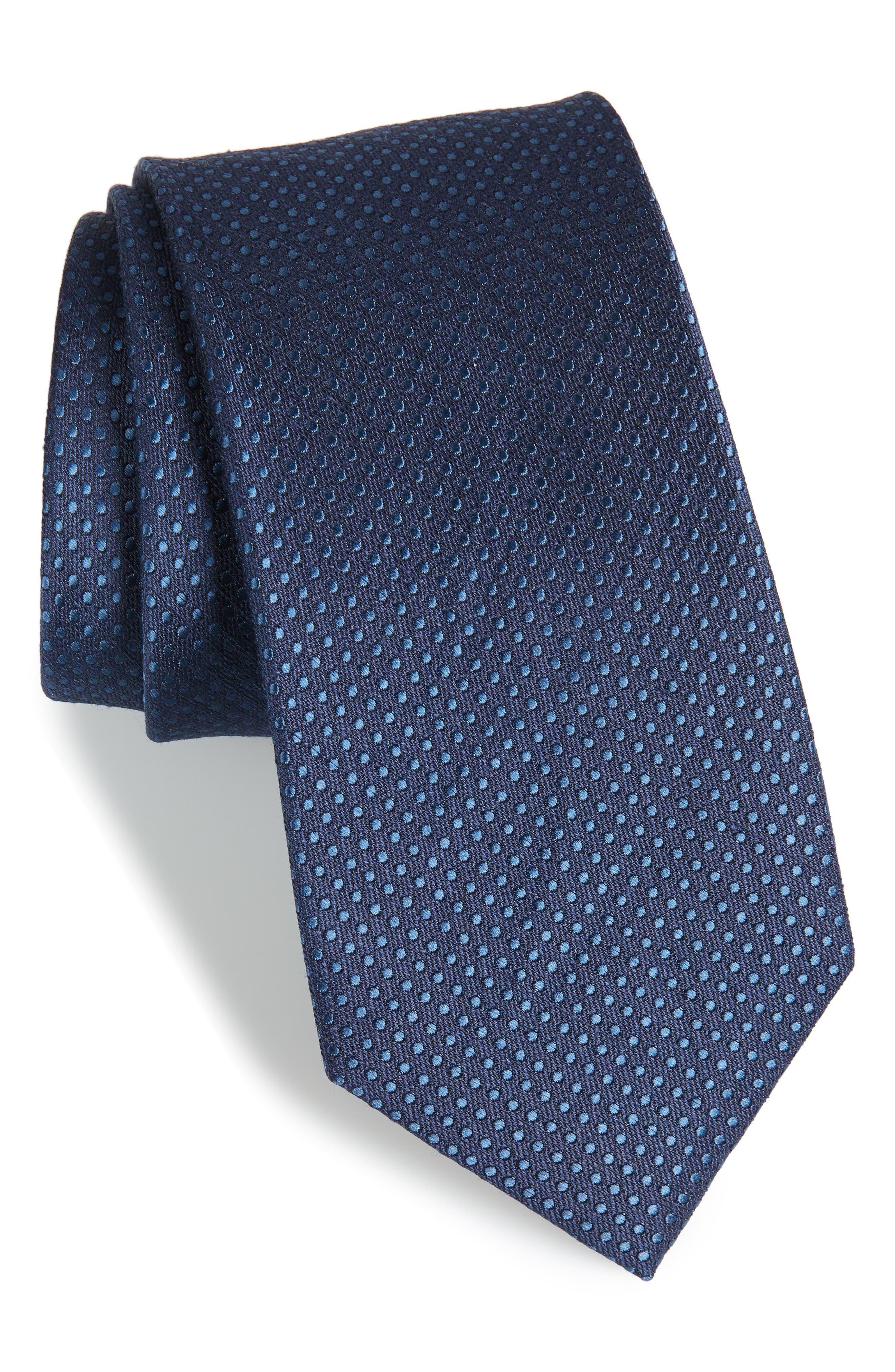 Dotten Dot Silk & Cotton Tie,                             Main thumbnail 2, color,