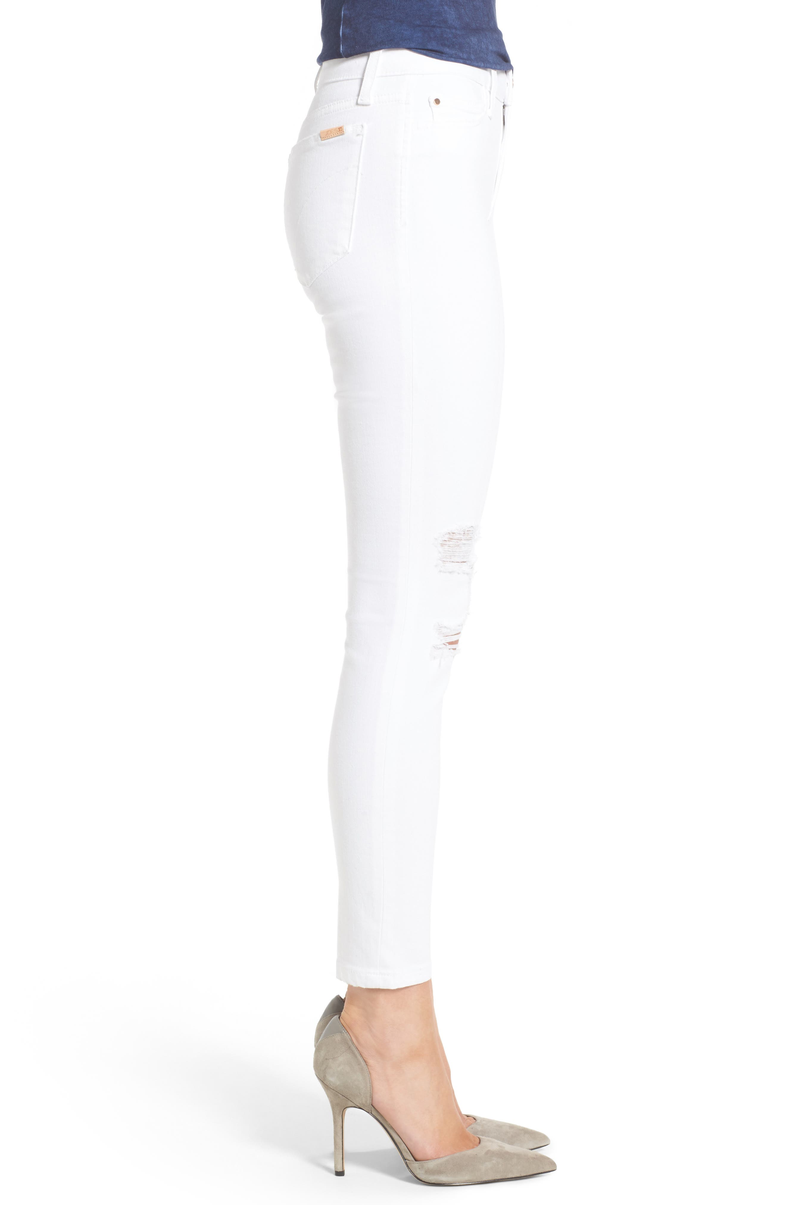 Icon Ankle Skinny Jeans,                             Alternate thumbnail 3, color,                             100