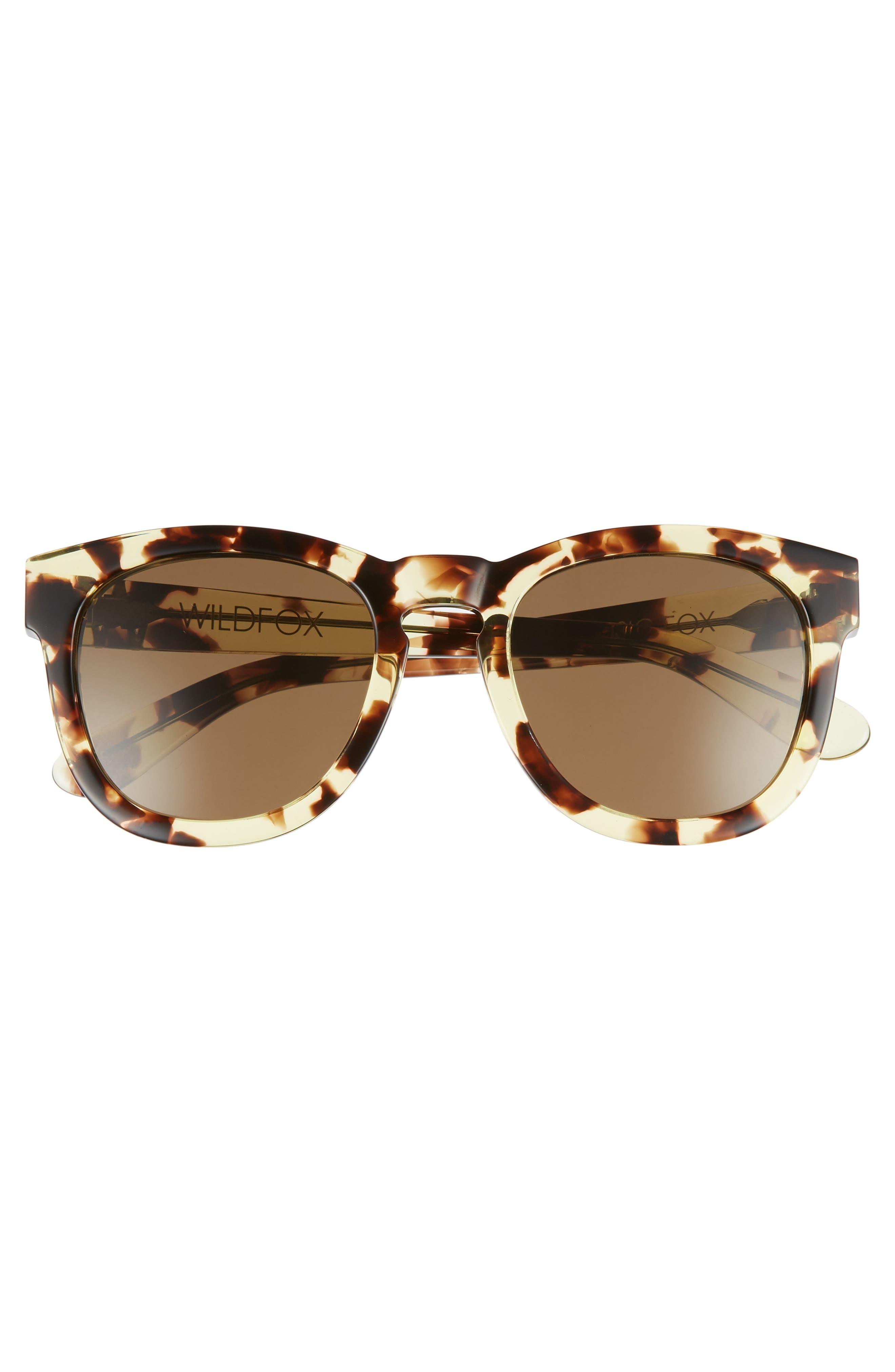 'Classic Fox' 50mm Retro Sunglasses,                             Alternate thumbnail 4, color,                             203
