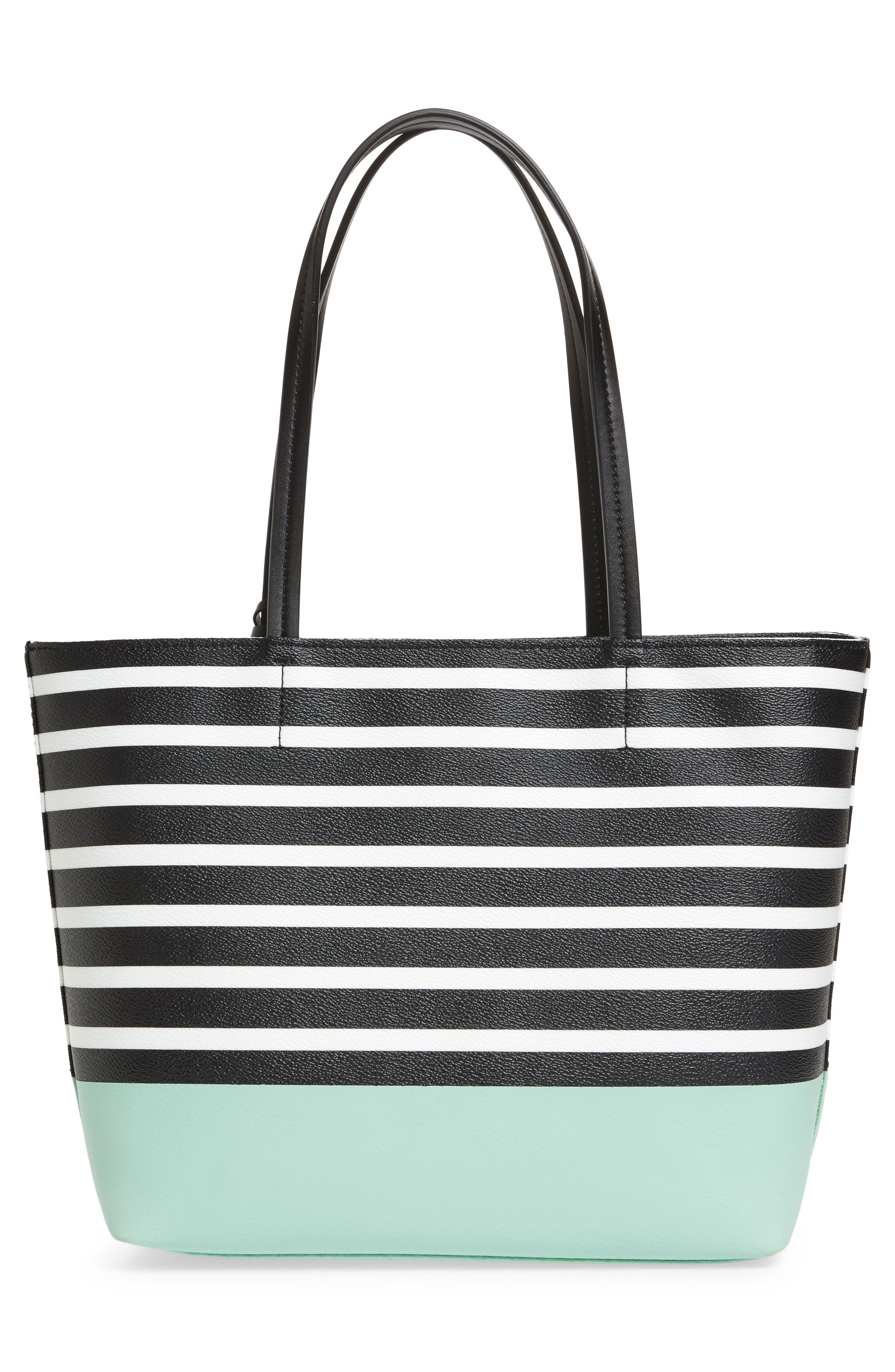 hyde lane dipped stripe - small riley tote,                             Alternate thumbnail 3, color,                             377