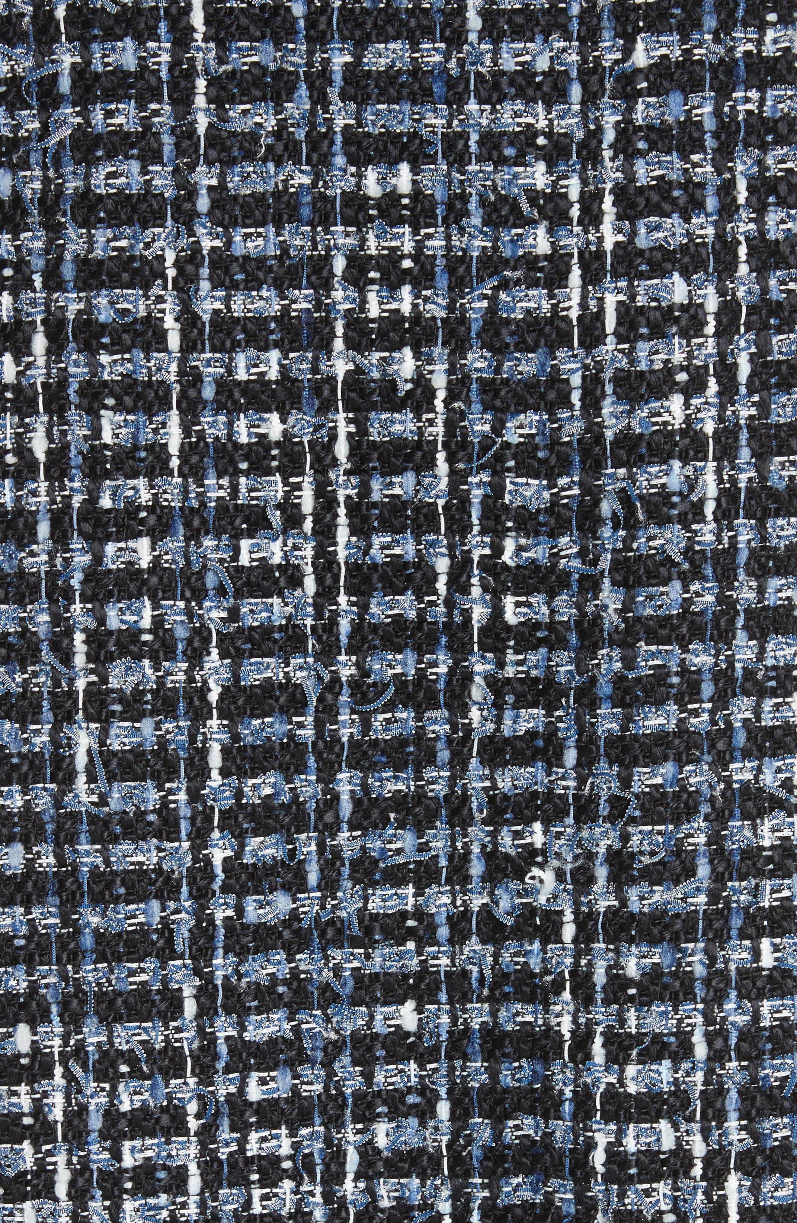 flounced sleeve tweed jacket,                             Alternate thumbnail 6, color,                             431