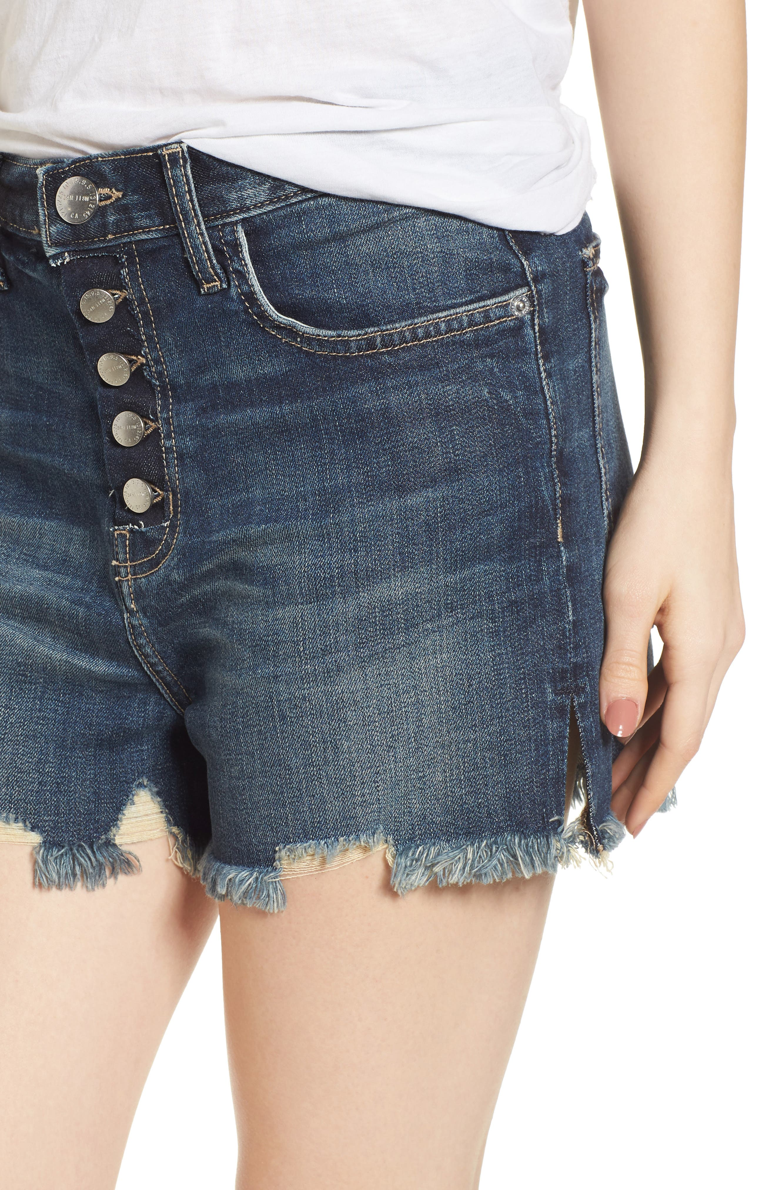 The Ultra High Waist Cutoff Denim Shorts,                             Alternate thumbnail 4, color,                             490