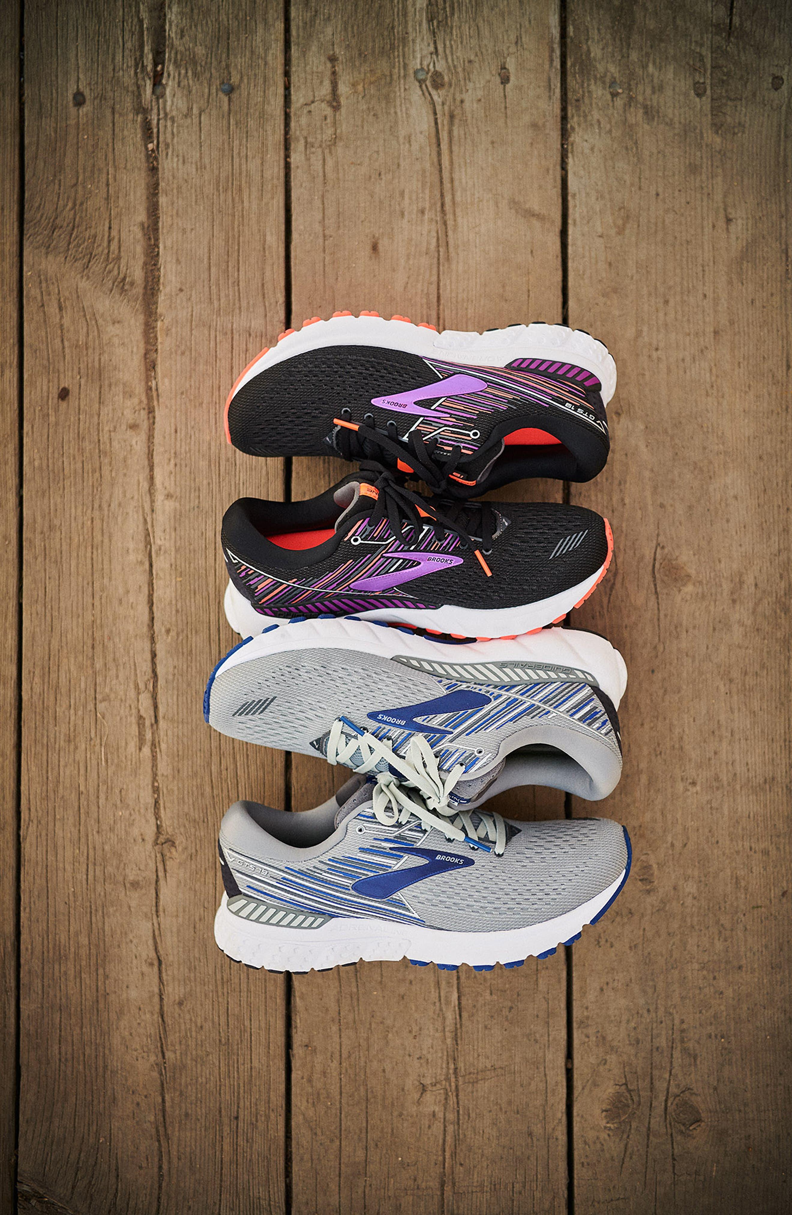 Adrenaline GTS 19 Running Shoe,                             Alternate thumbnail 7, color,                             BLACK/ PURPLE/ CORAL