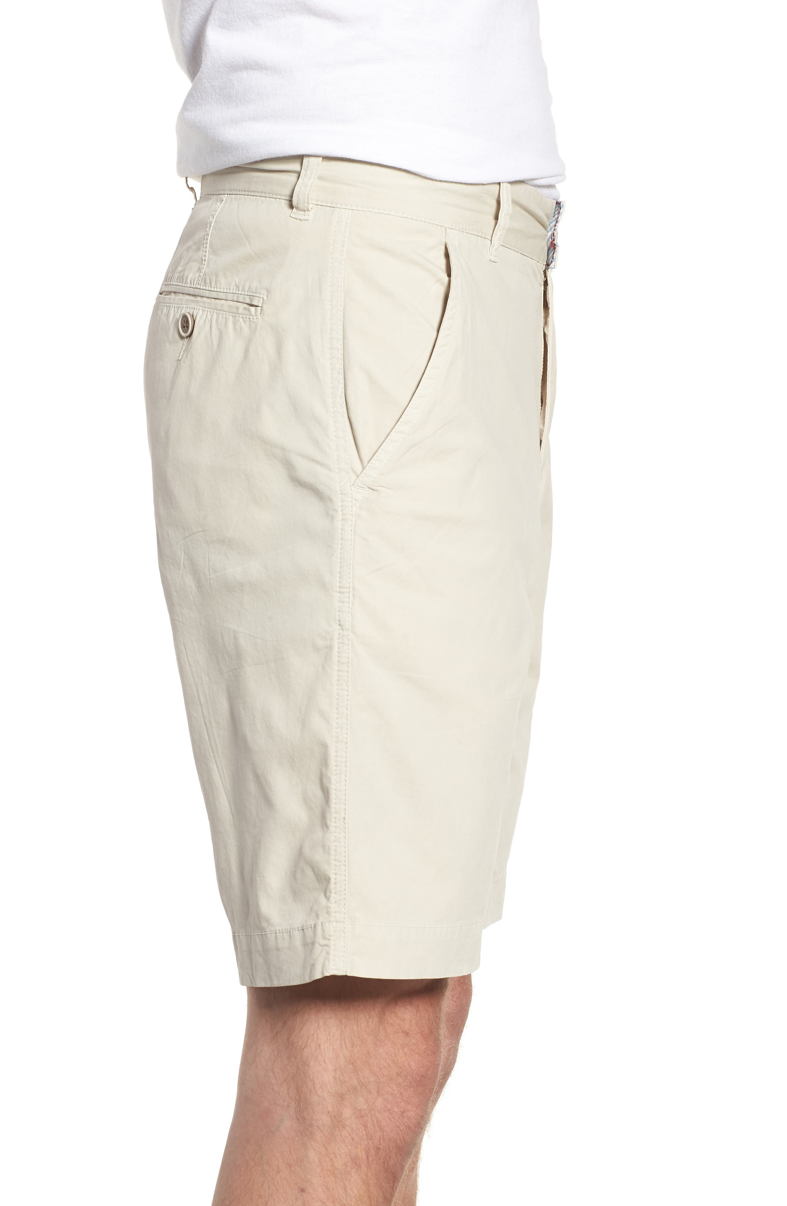 Stretch Poplin Shorts,                             Alternate thumbnail 3, color,                             020