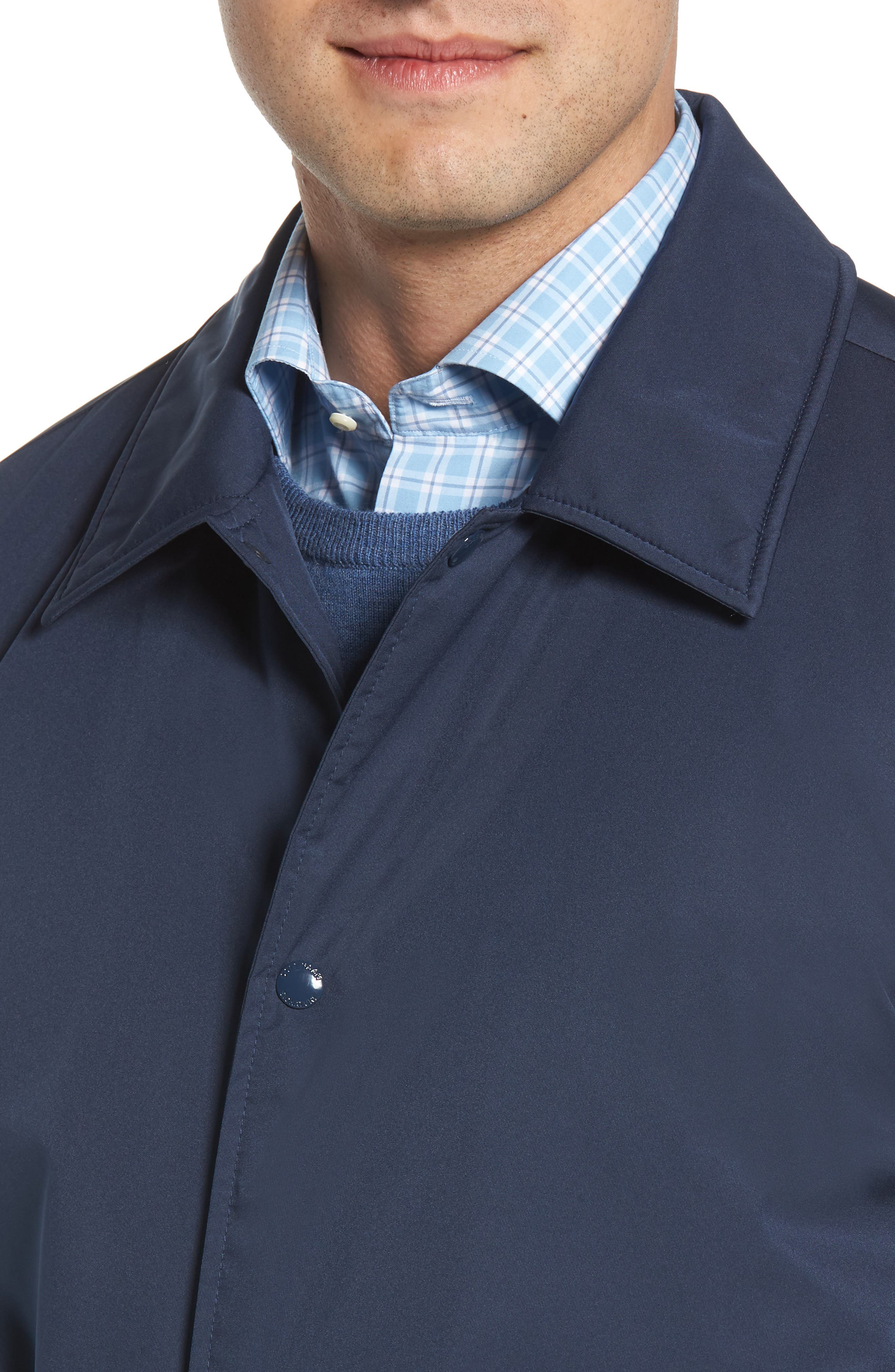 Faux Shearling Lined Jacket,                             Alternate thumbnail 4, color,                             INDIA INK