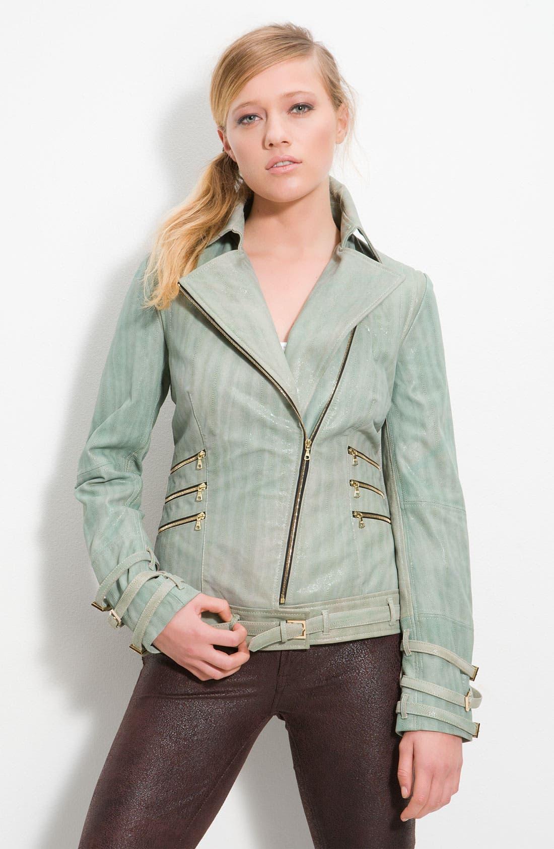 'Aqua' Moto Jacket, Main, color, 332