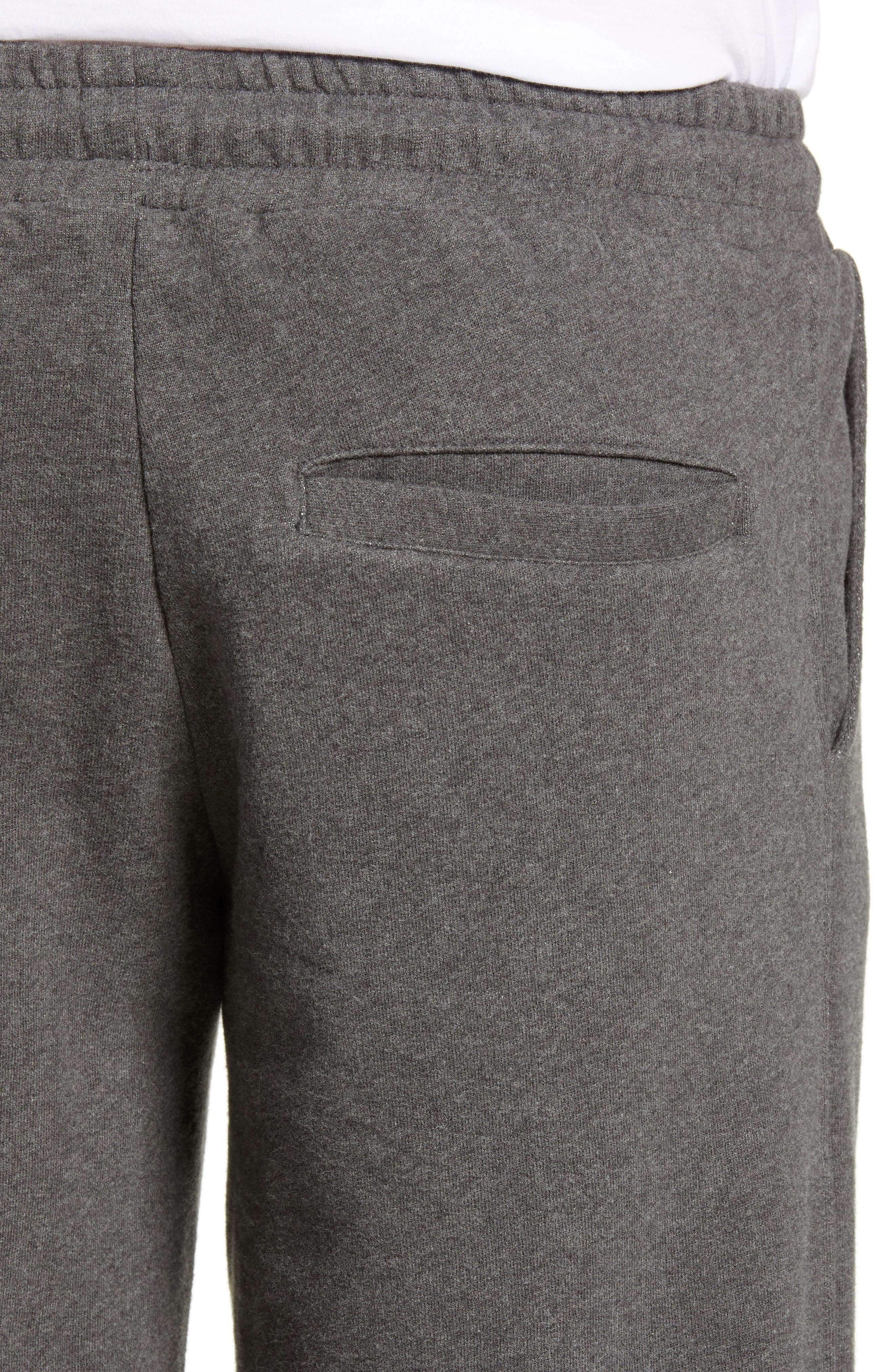 KnowledgeCotton Mélange Sweatpants,                             Alternate thumbnail 4, color,                             GREY MELANGE