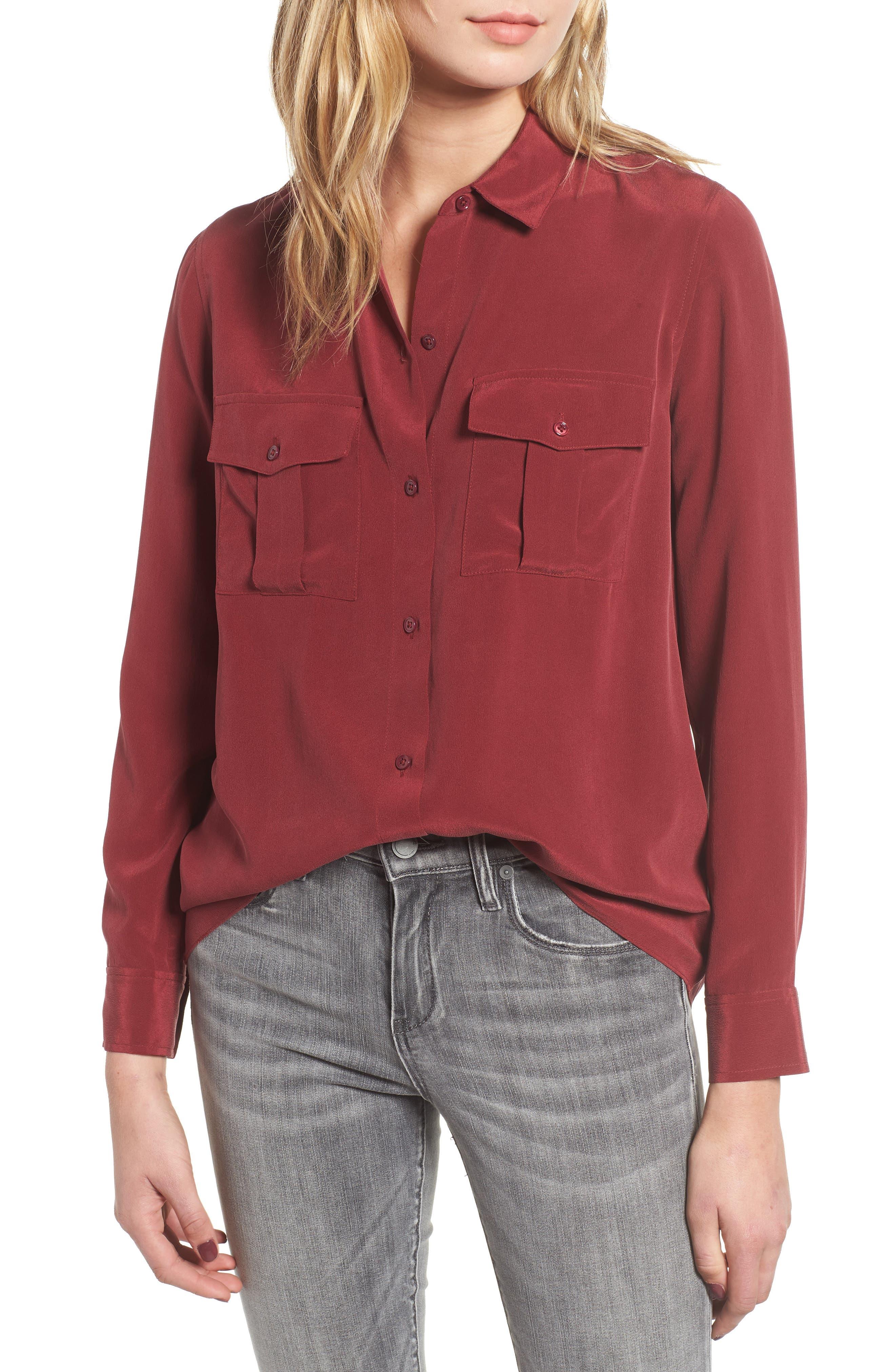 Rhett Silk Shirt,                         Main,                         color, 930