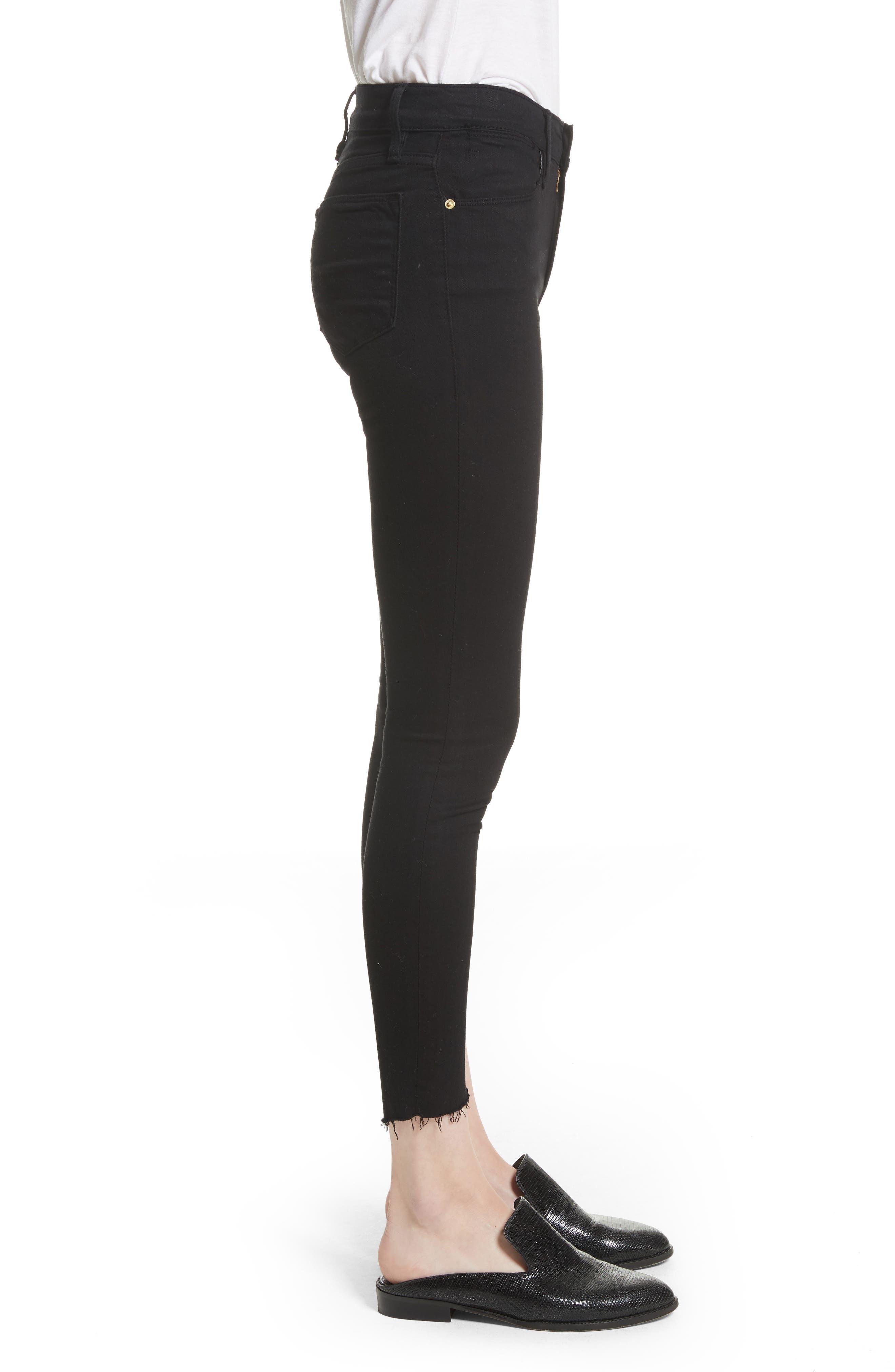 Le High Skinny Step Hem Jeans,                             Alternate thumbnail 3, color,                             002