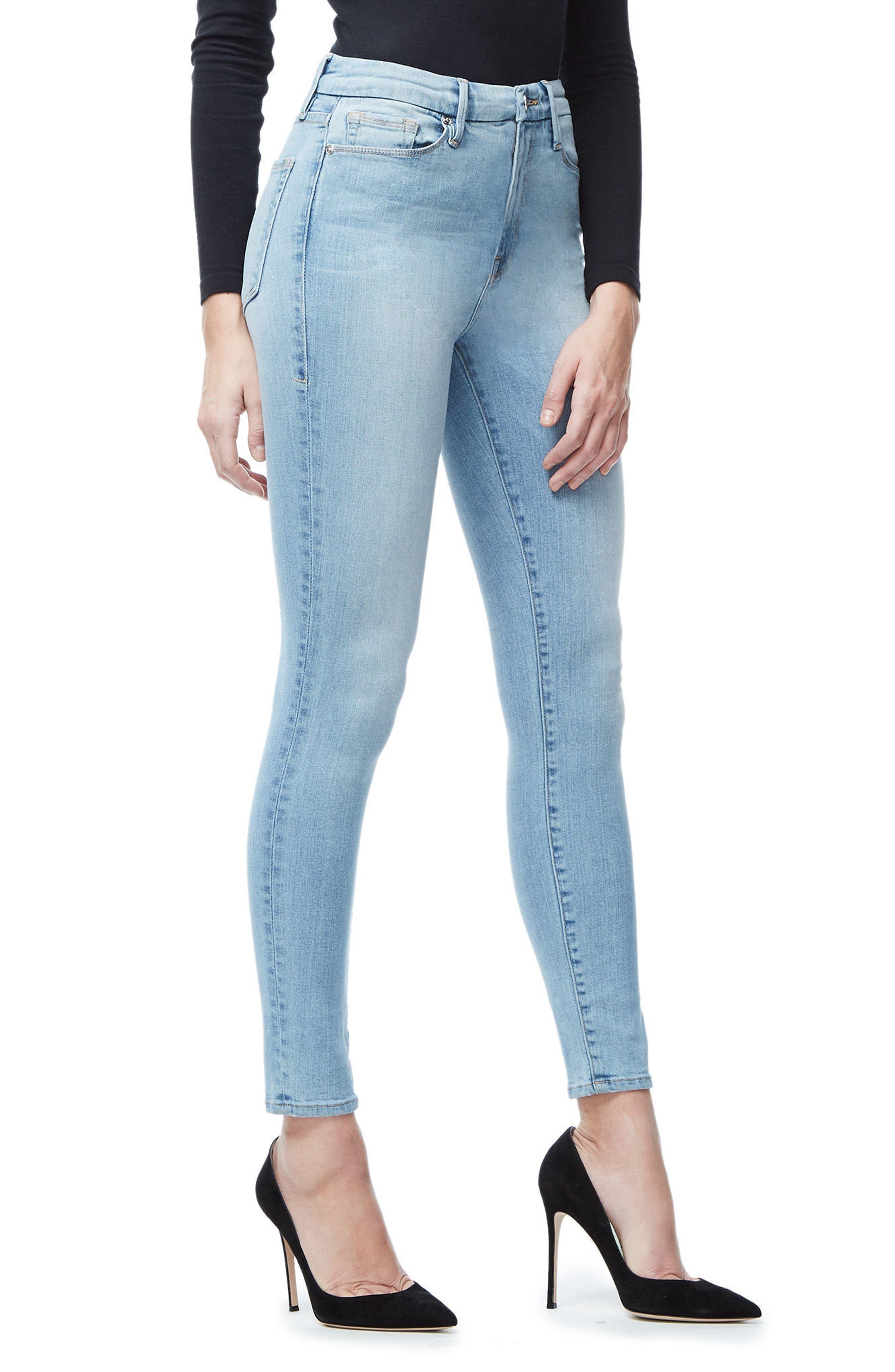 Good Waist High Waist Crop Skinny Jeans,                             Alternate thumbnail 6, color,
