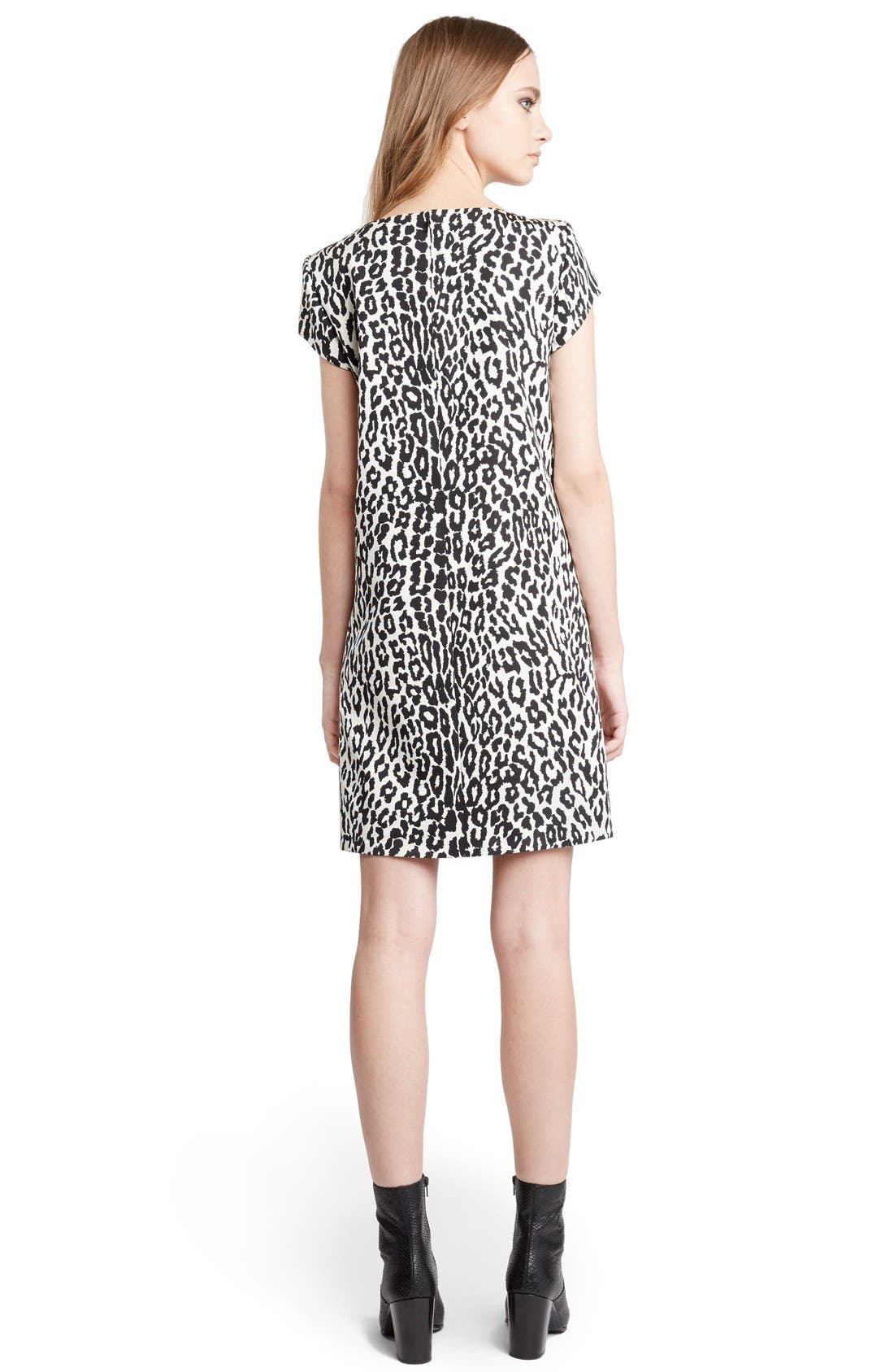 Leopard Print Shift Dress,                             Alternate thumbnail 2, color,                             126