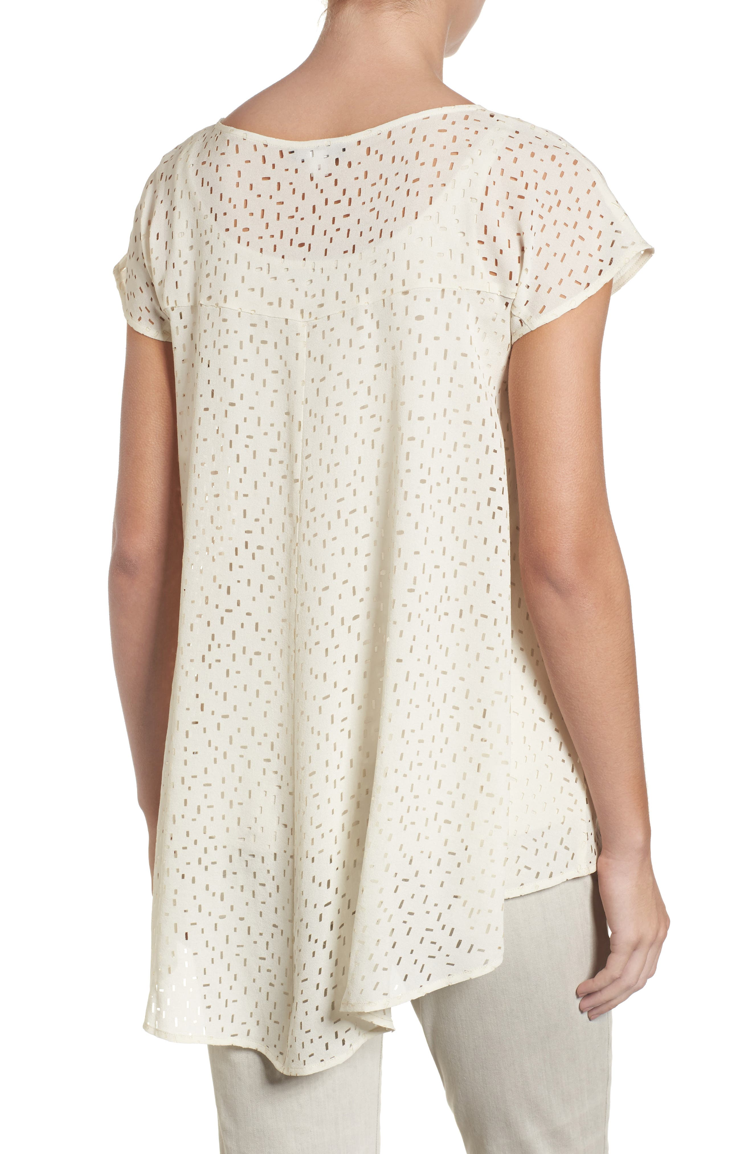 Cutwork Silk Top,                             Alternate thumbnail 4, color,