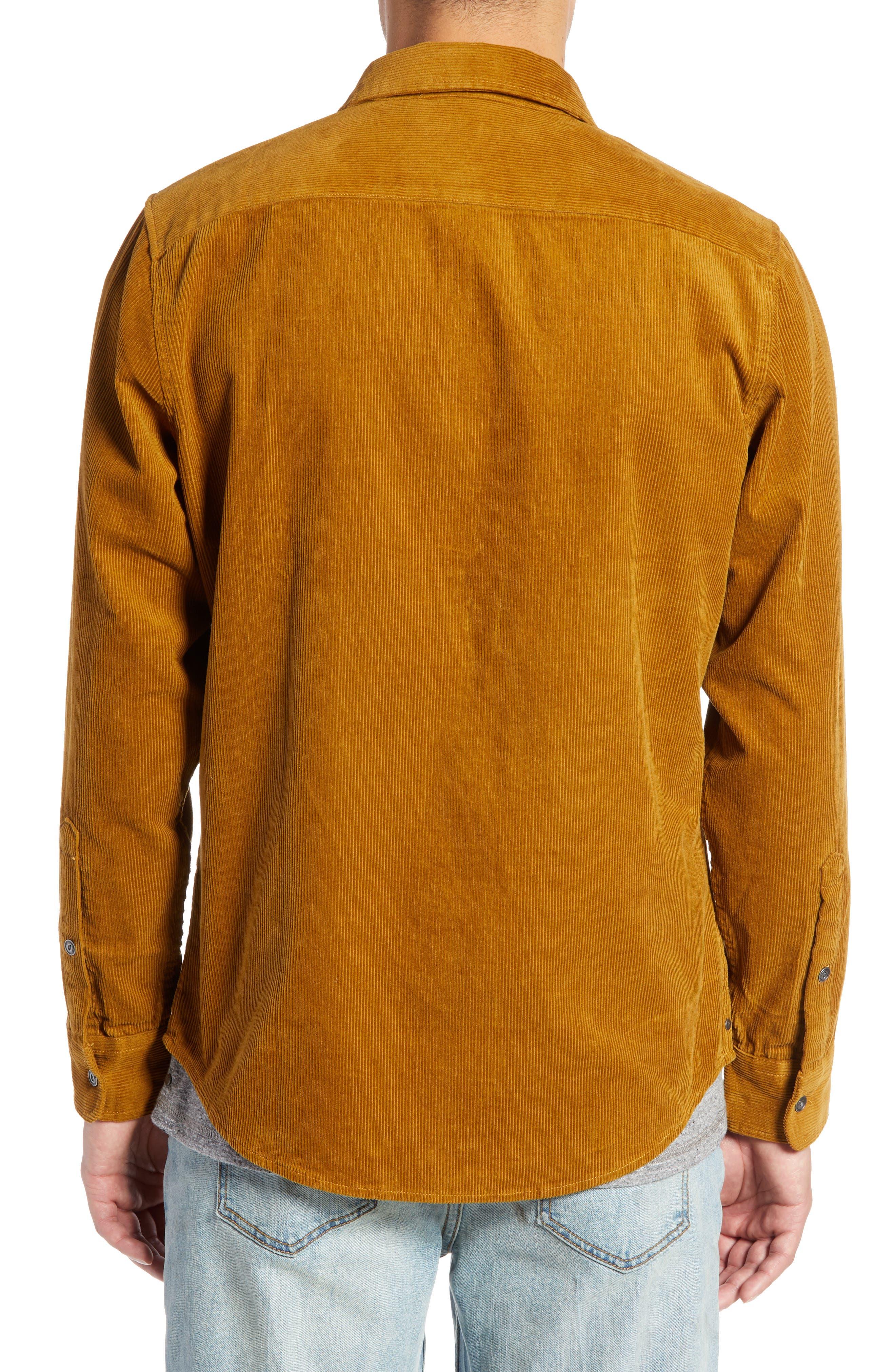 Regular Fit Corduroy Shirt Jacket,                             Alternate thumbnail 3, color,                             BROWN BRONZE