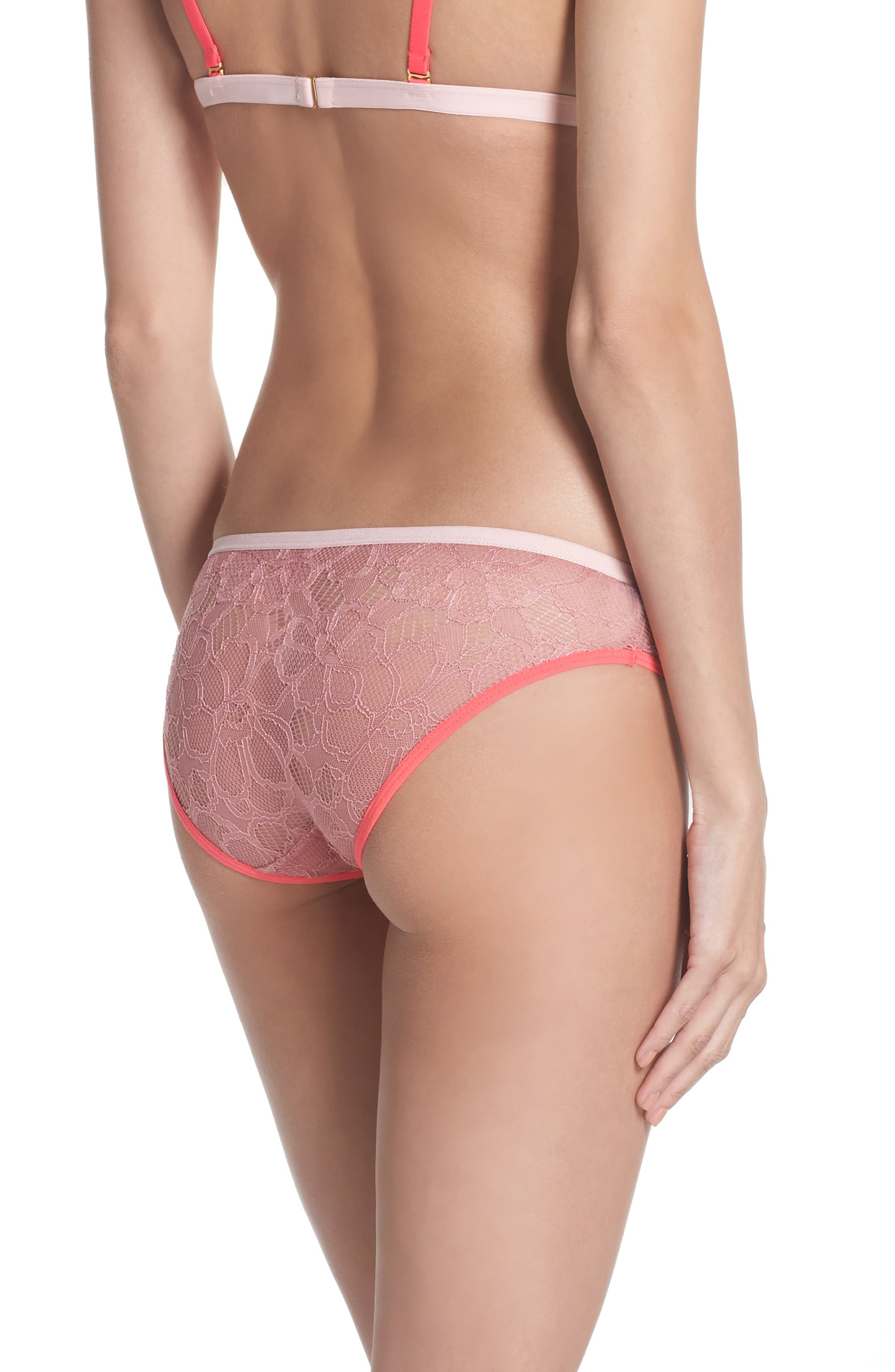 Lace Hipster Panties,                             Alternate thumbnail 2, color,