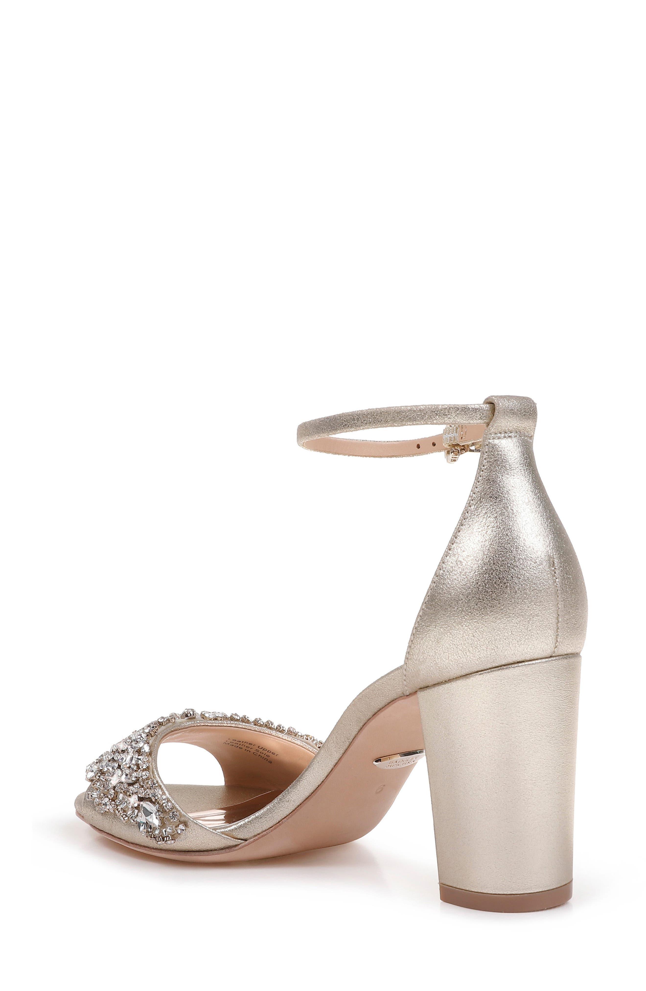 Hines Embellished Block Heel Sandal,                             Alternate thumbnail 6, color,