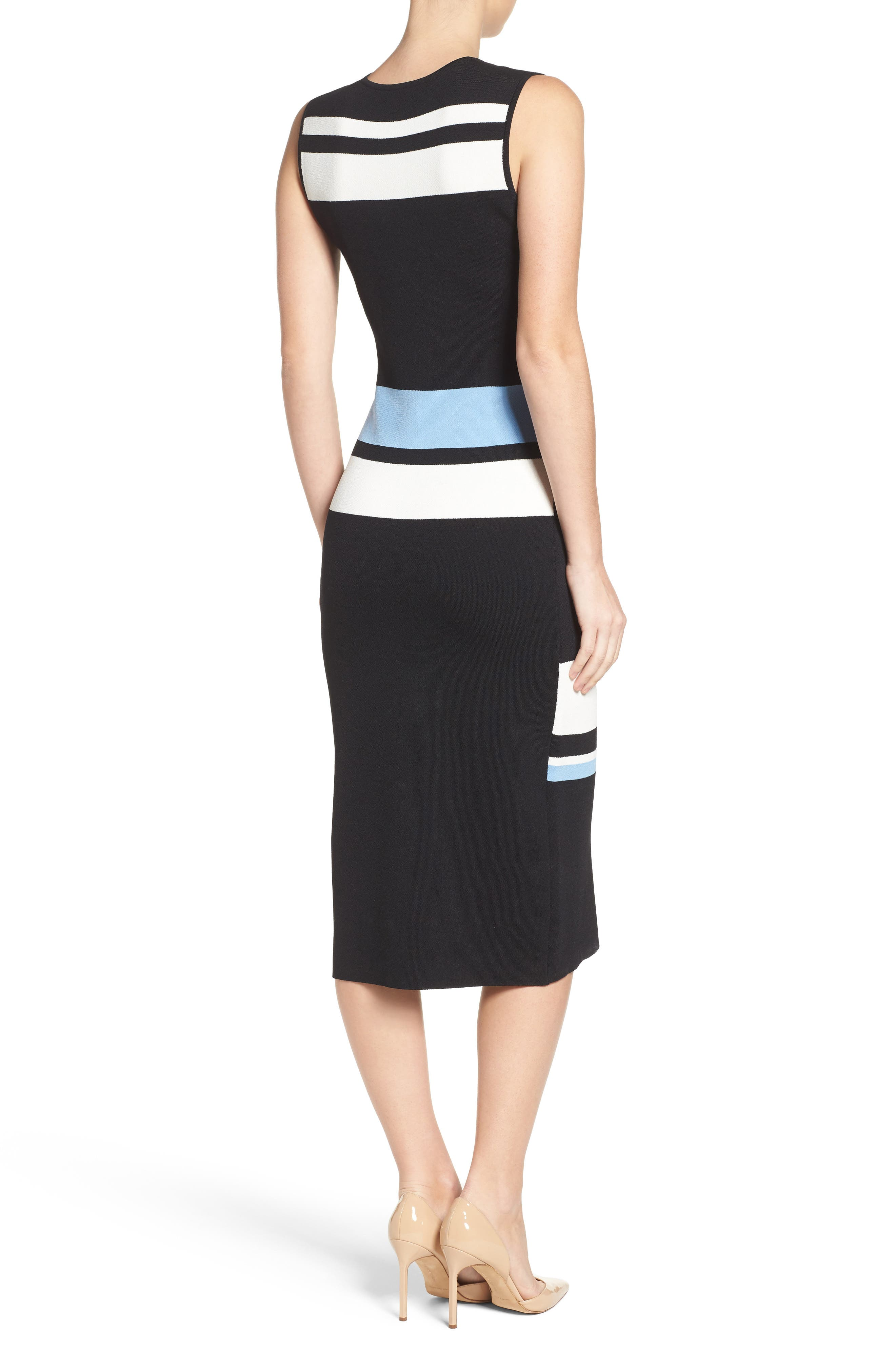 Color Block Midi Dress,                             Alternate thumbnail 2, color,                             421