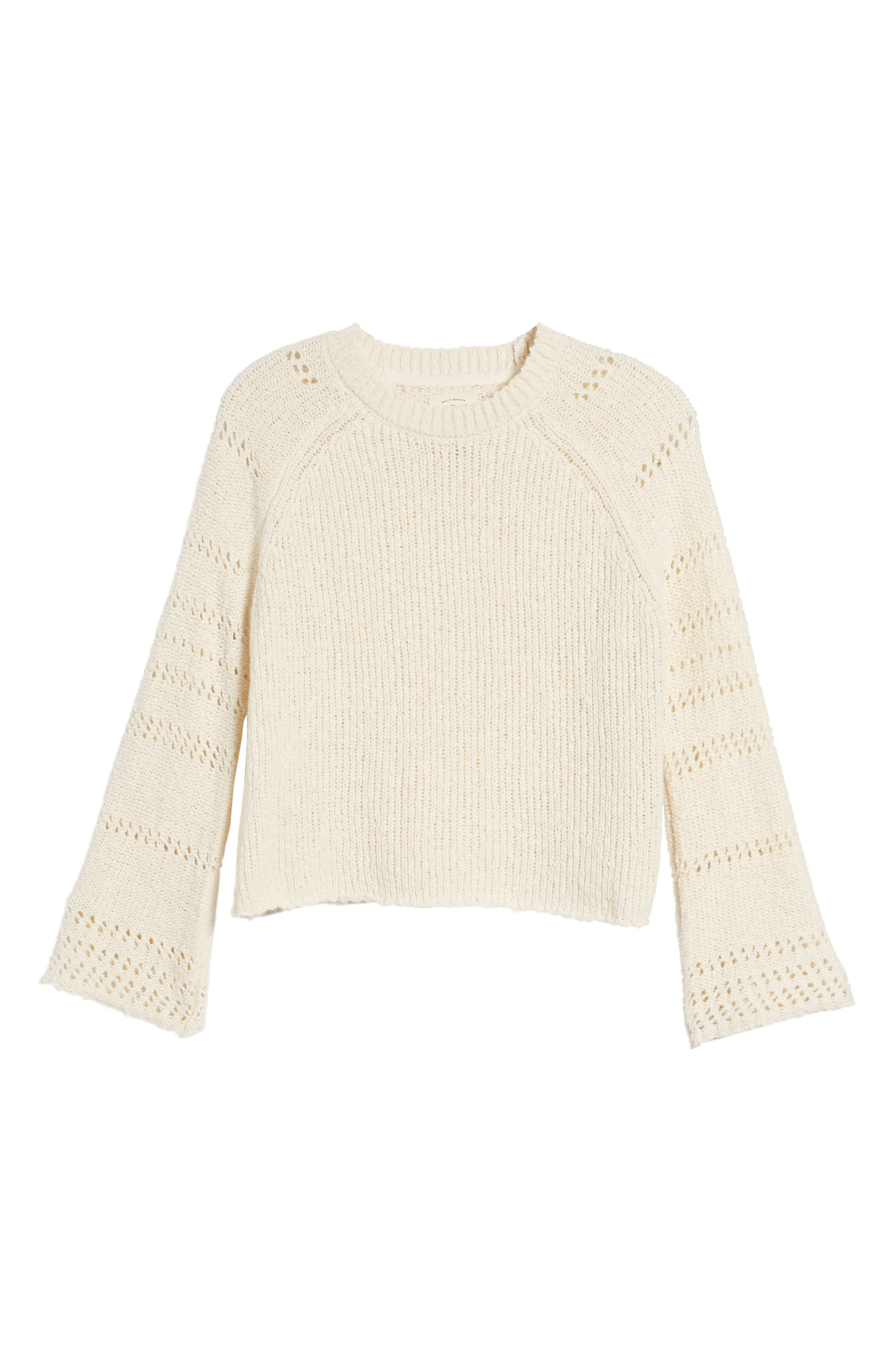Cozy Love Bell Sleeve Sweater,                             Alternate thumbnail 6, color,                             190