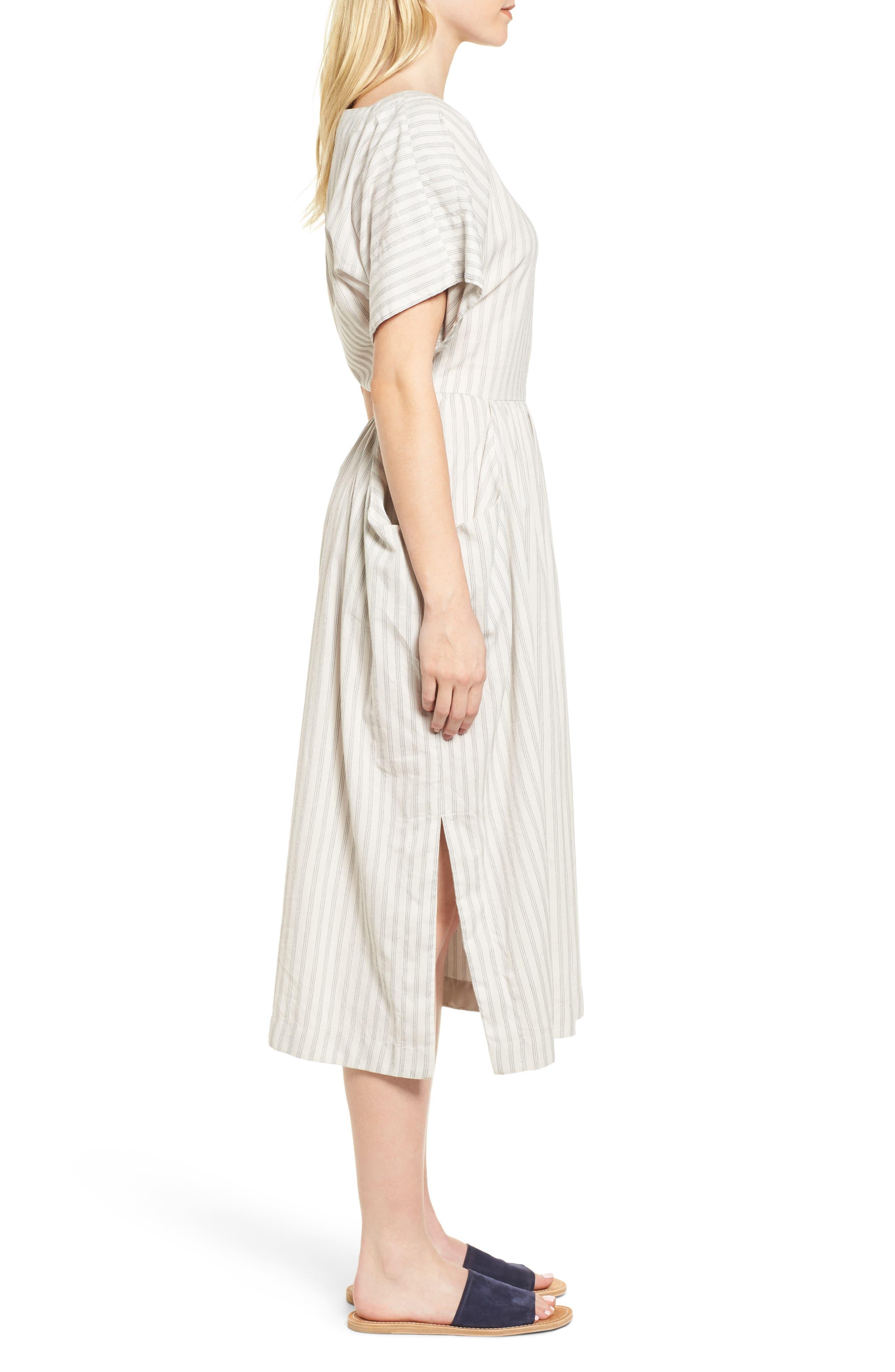 Stripe Midi Dress,                             Alternate thumbnail 3, color,                             158