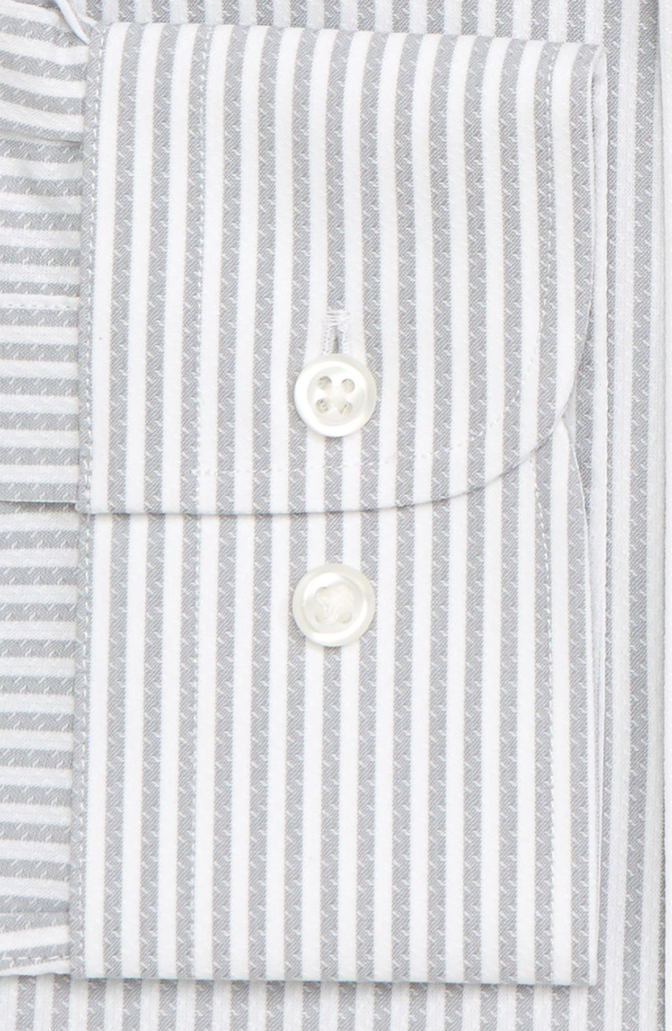 Tech-Smart Traditional Fit Stripe Stretch Dress Shirt,                             Alternate thumbnail 16, color,