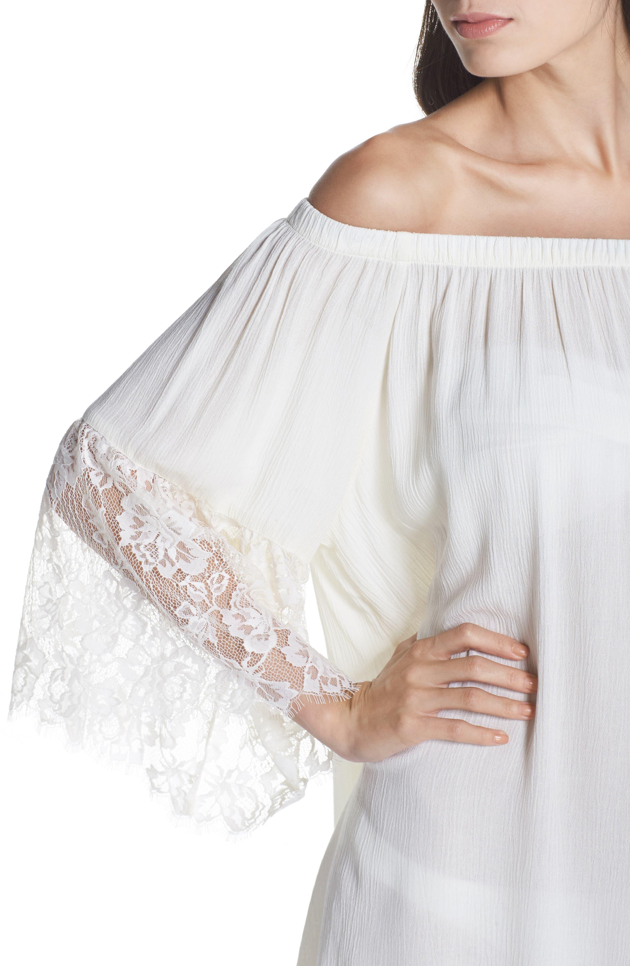 Off the Shoulder Cover-Up Dress,                             Alternate thumbnail 11, color,