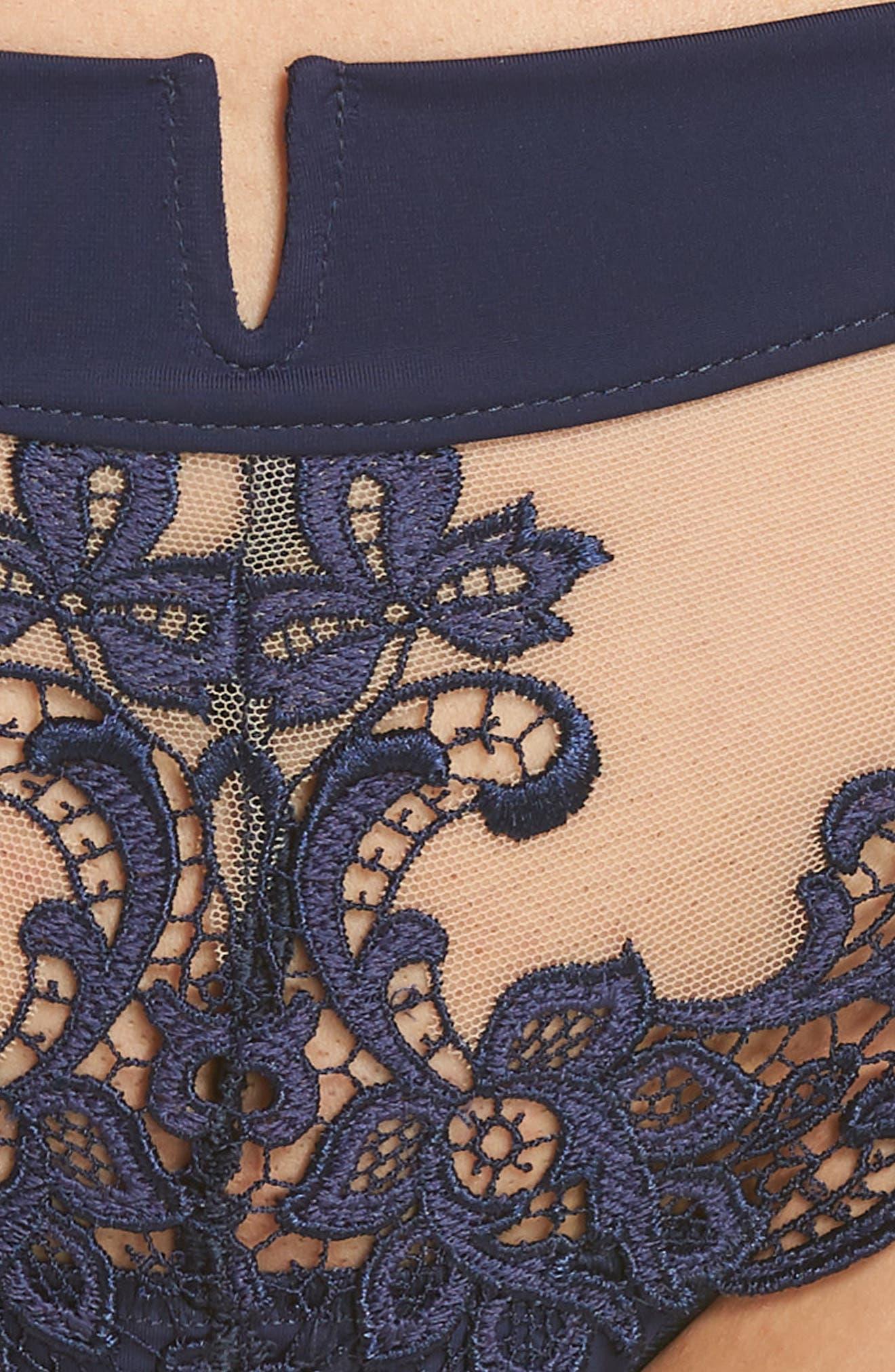 'Saga' Embroidered Boyshort Briefs,                             Alternate thumbnail 5, color,                             NAVY