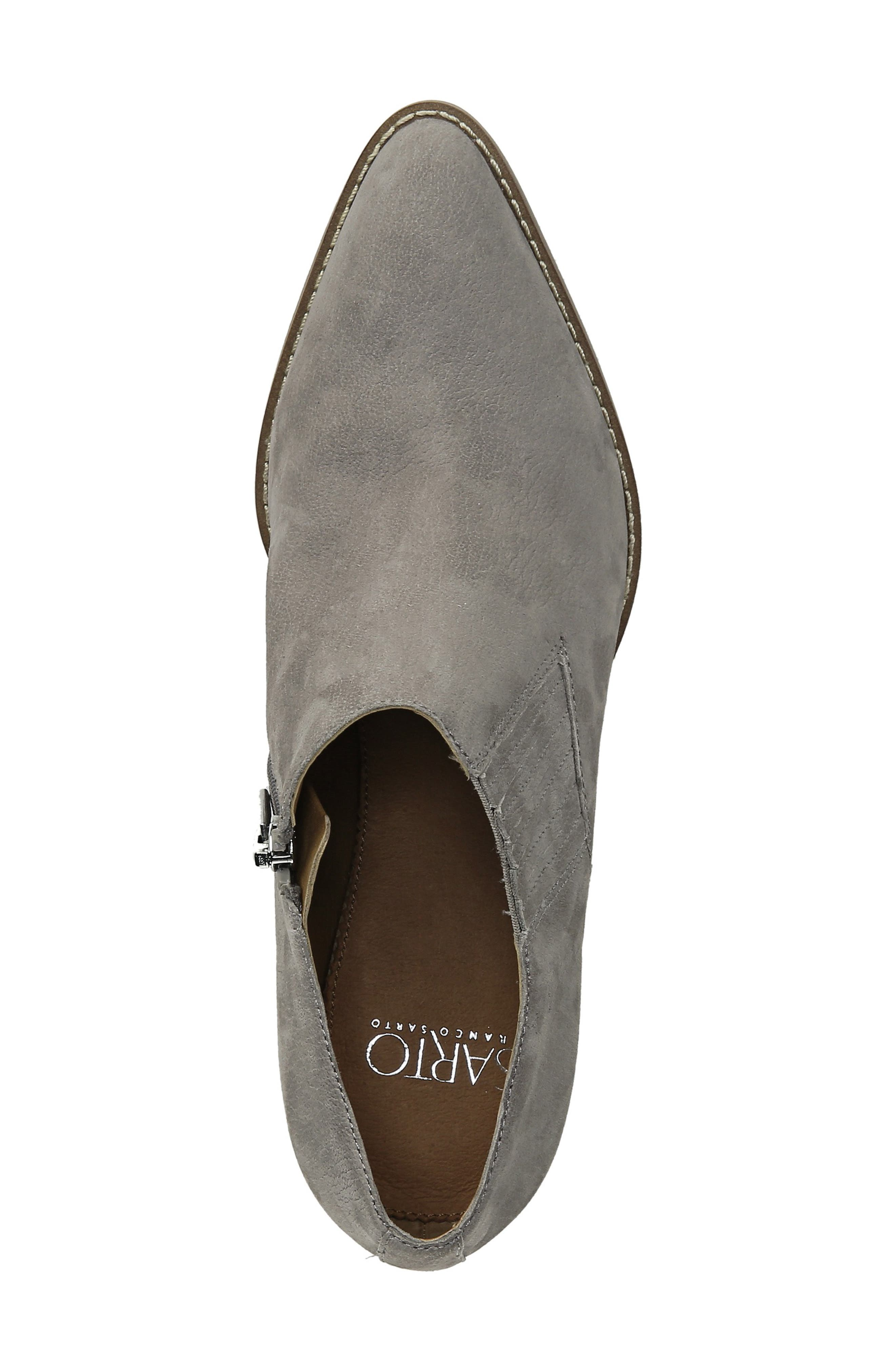 Camella Bootie,                             Alternate thumbnail 5, color,                             GREYSTONE NUBUCK LEATHER