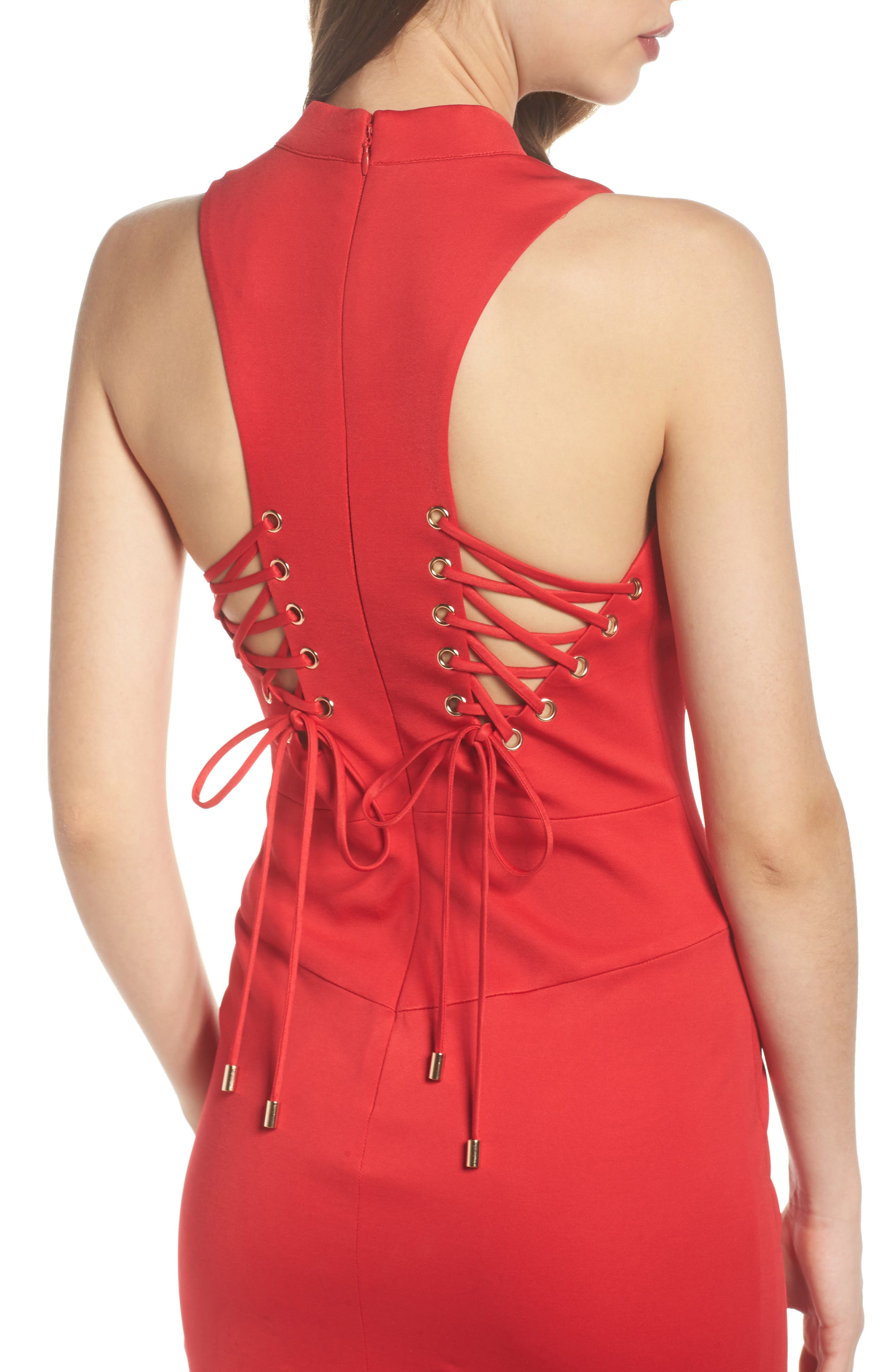 Lola Corset Back Jersey Gown,                             Alternate thumbnail 4, color,                             645