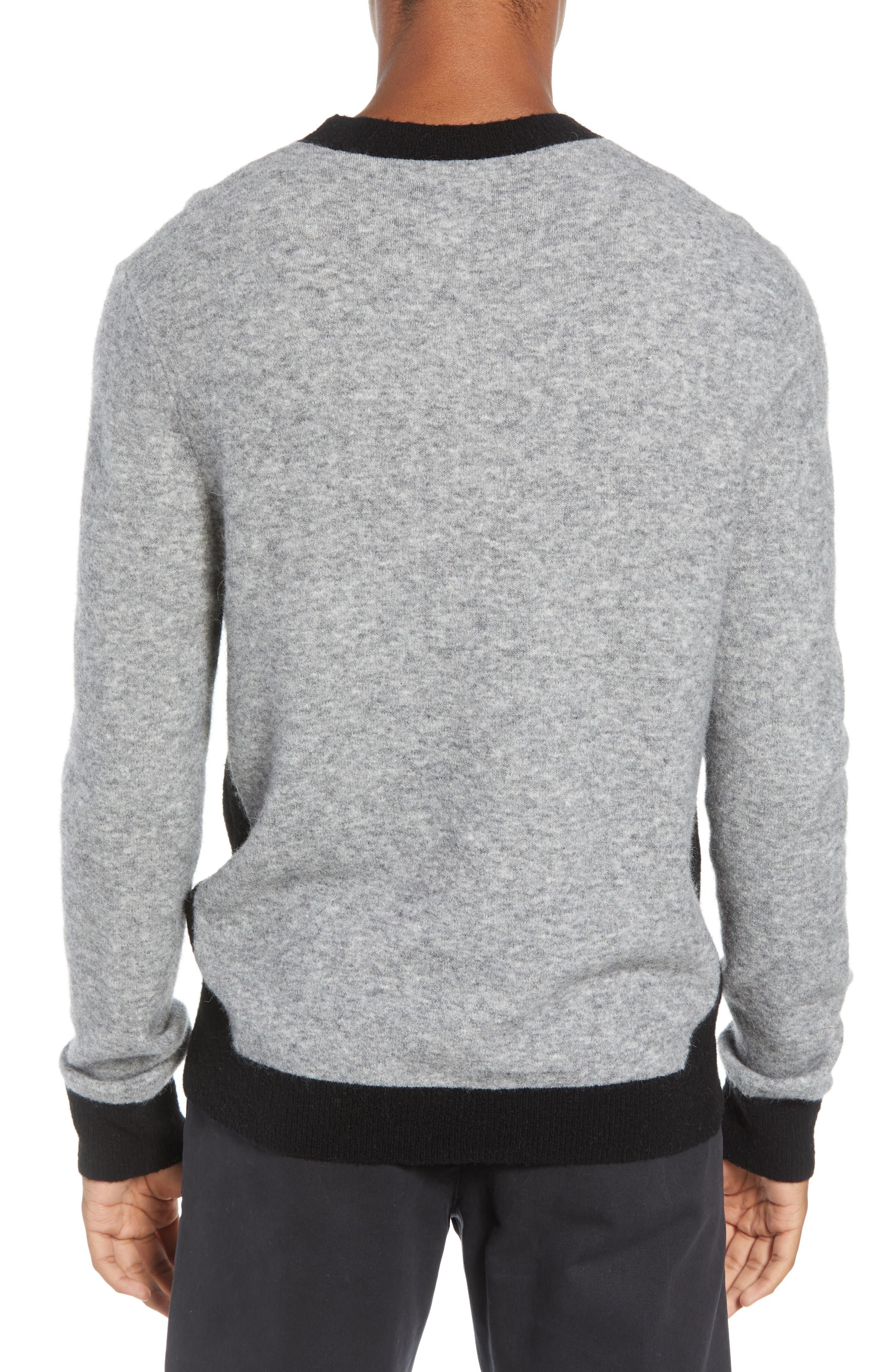 Clermont Slim Fit Crewneck Sweater,                             Alternate thumbnail 2, color,                             LIGHT HEATHER GREY