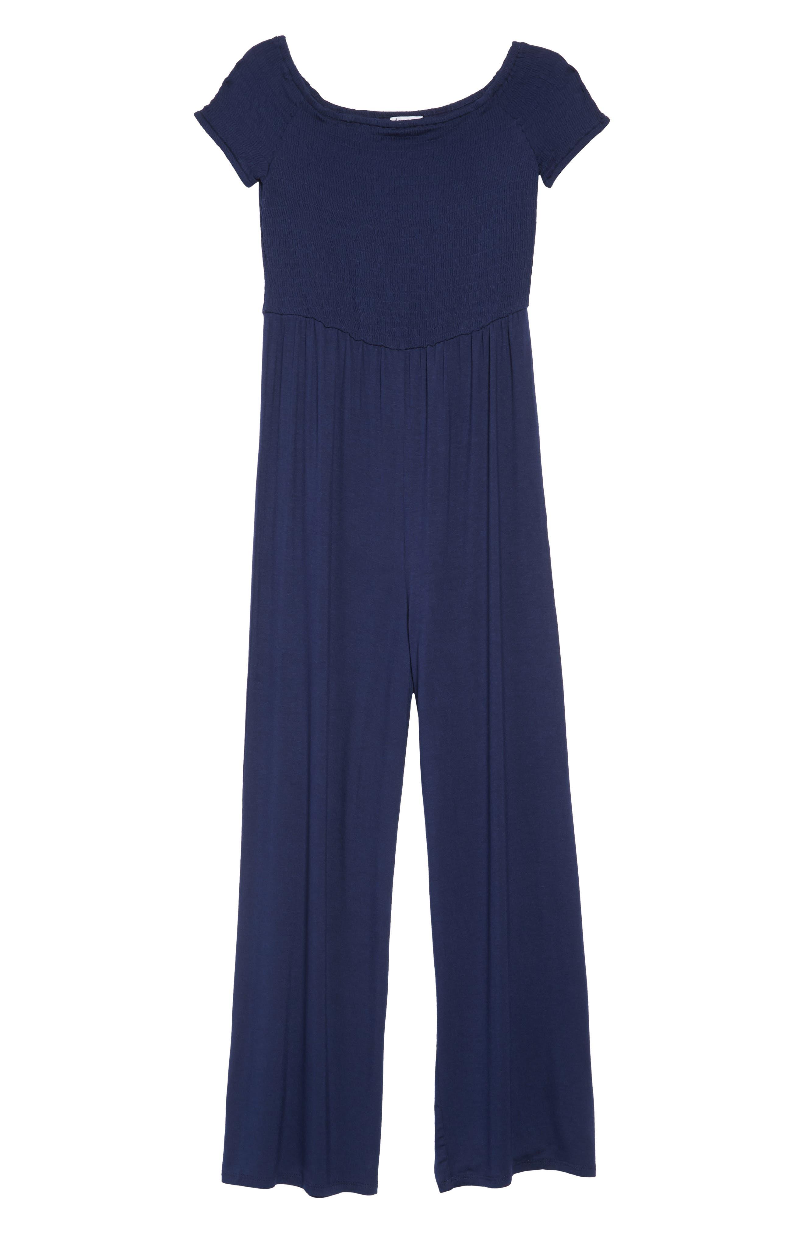 Off the Shoulder Knit Jumpsuit,                         Main,                         color, 400