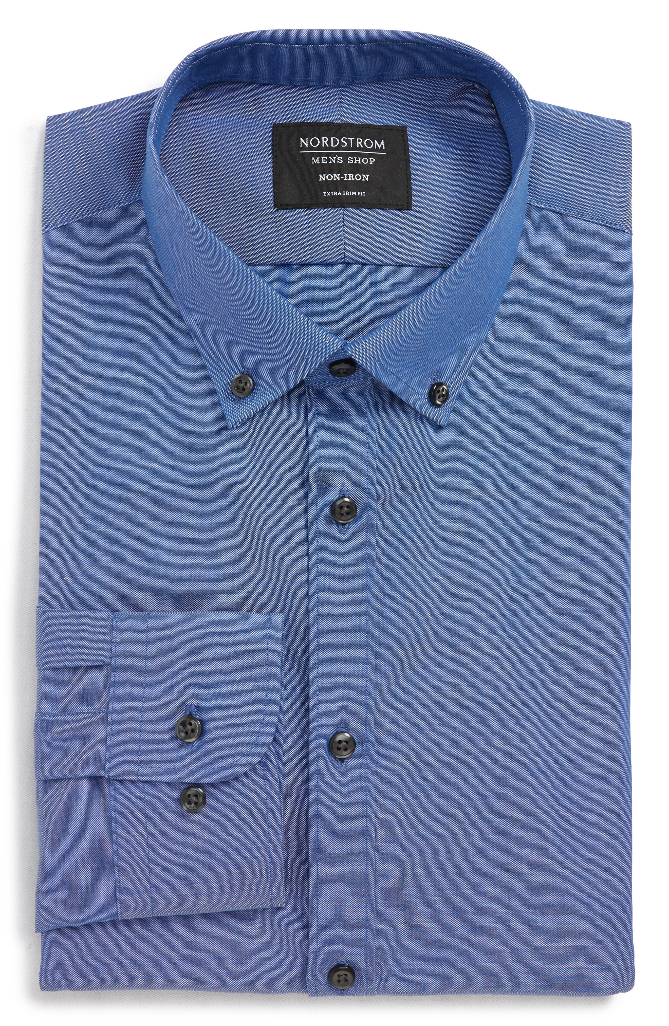 Extra Trim Fit Non-Iron Dress Shirt,                             Alternate thumbnail 5, color,                             420