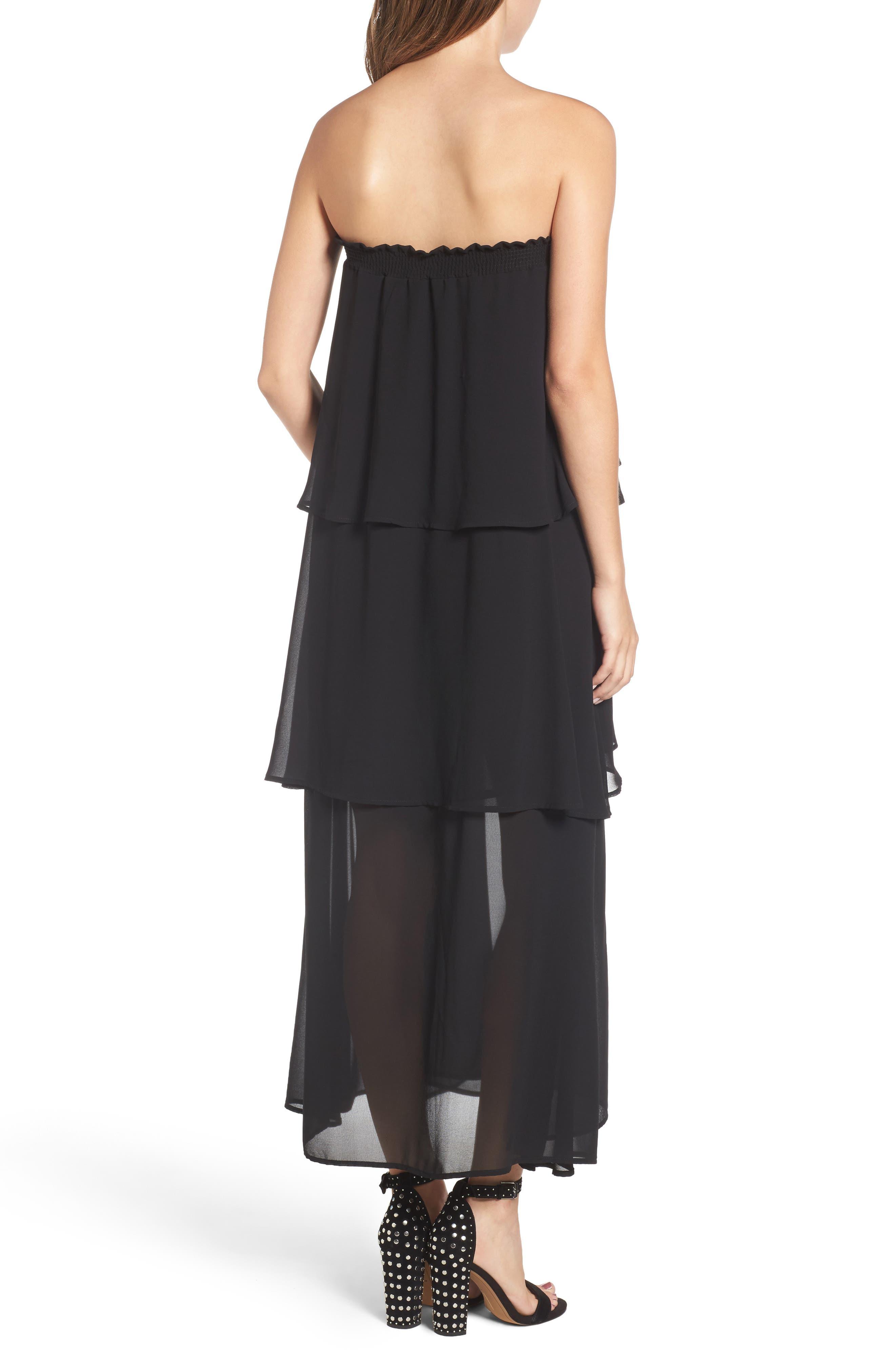 Karla Convertible Strapless Dress,                             Alternate thumbnail 4, color,