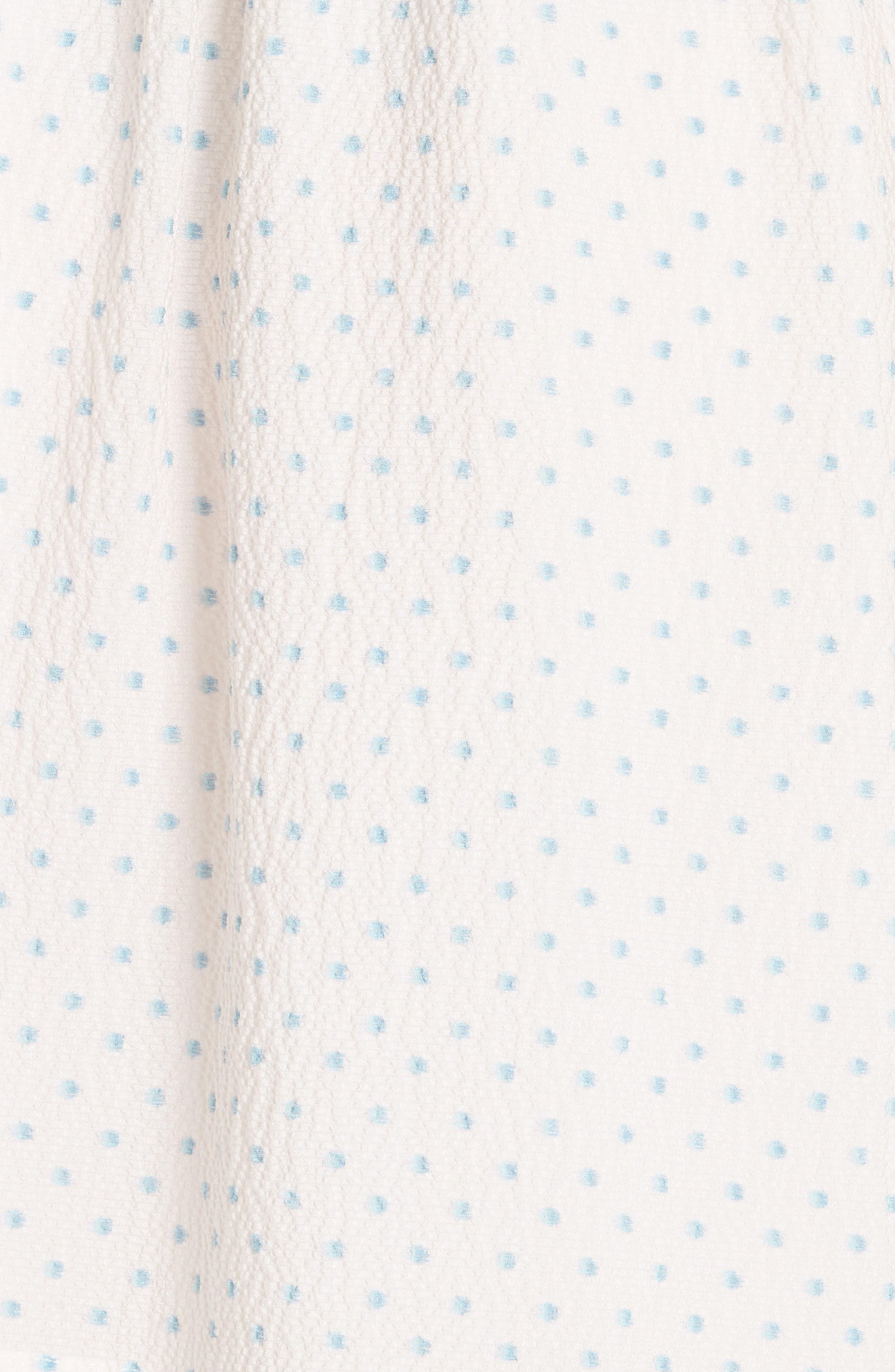 Dot Ruffle Faux Wrap Dress,                             Alternate thumbnail 5, color,                             901