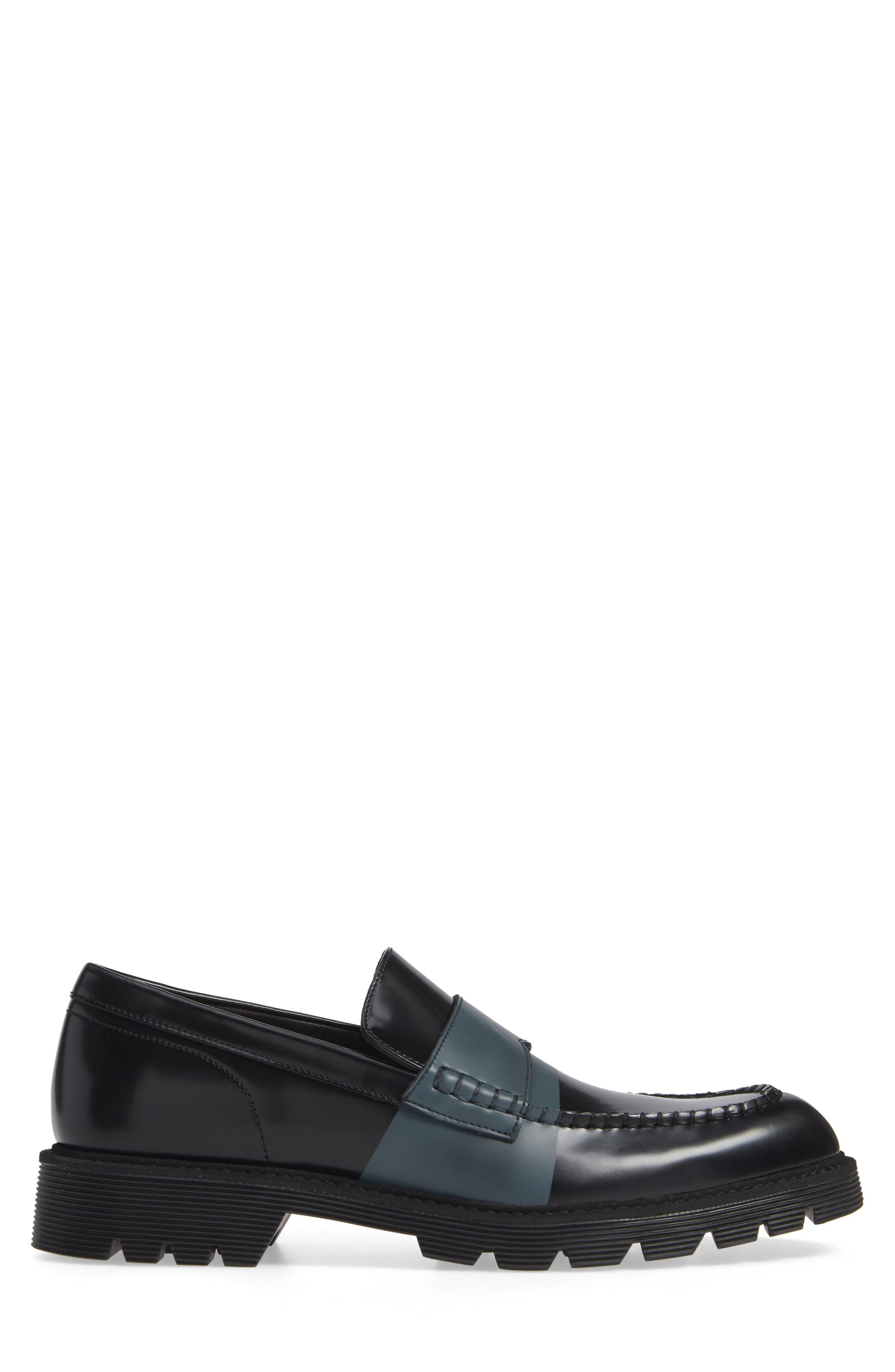 Florentino Penny Loafer,                             Alternate thumbnail 3, color,                             BLACK LEATHER