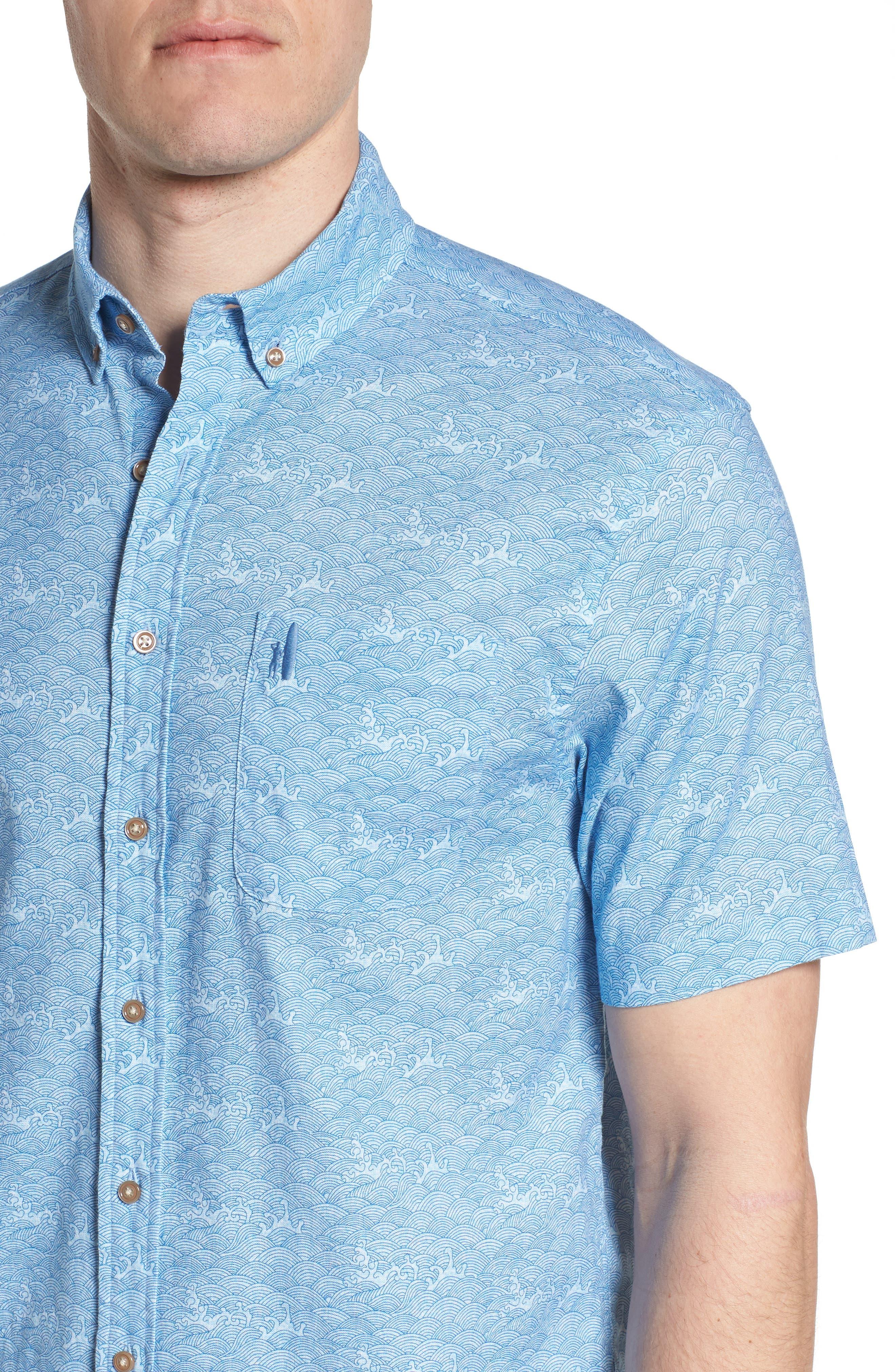 Cole Regular Fit Sport Shirt,                             Alternate thumbnail 4, color,                             347