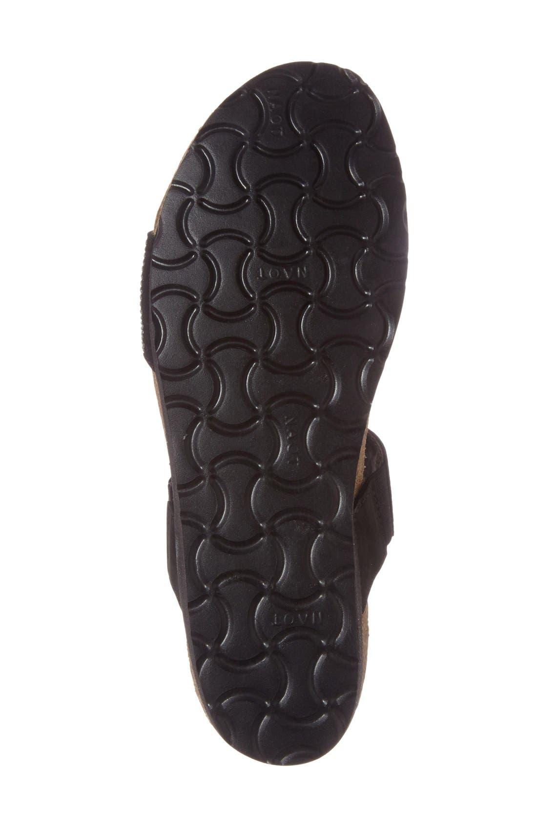 'Bianca' Slide Sandal,                             Alternate thumbnail 7, color,                             BLACK LEATHER