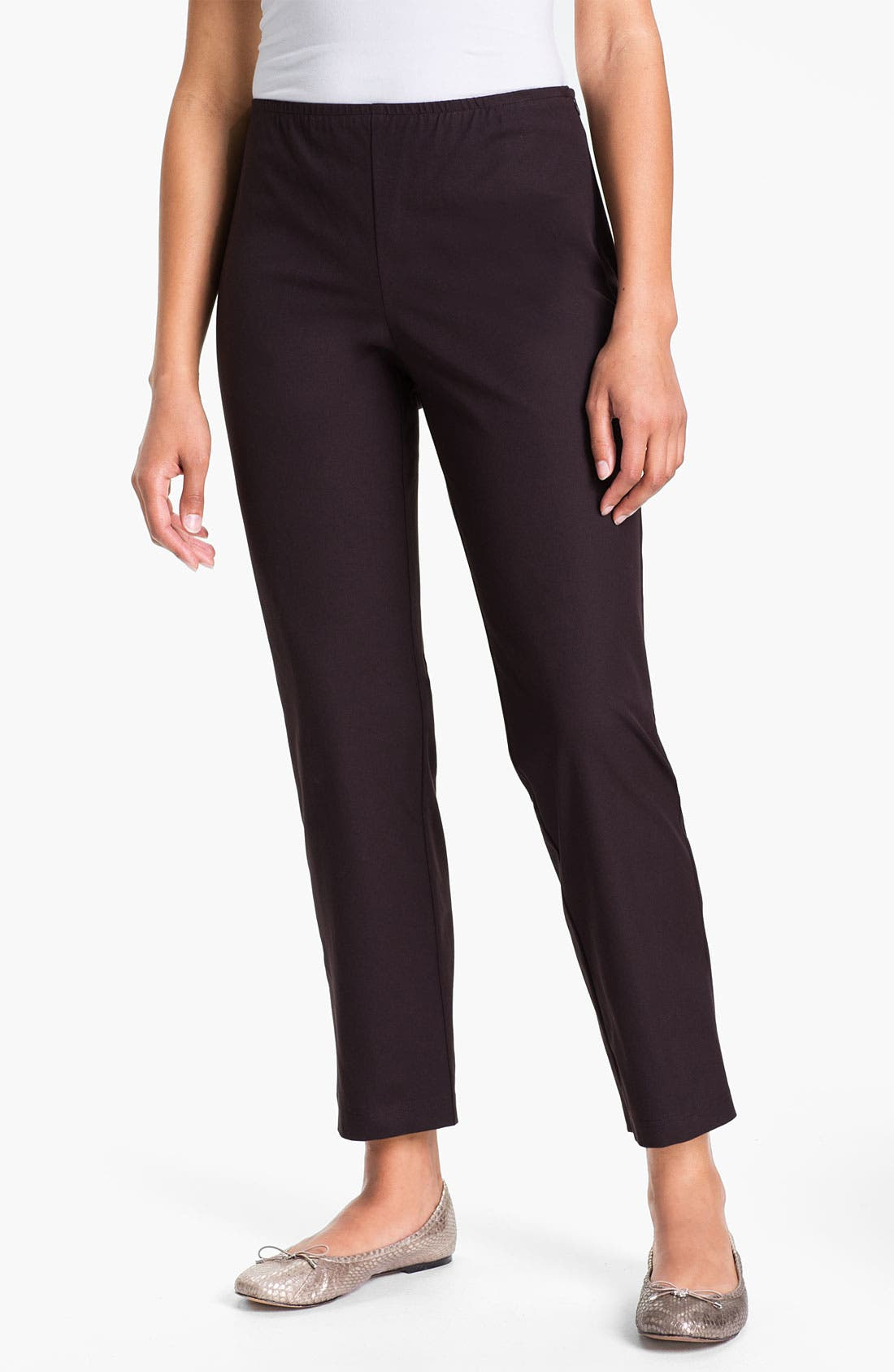 Organic Stretch Cotton Twill Ankle Pants,                             Main thumbnail 12, color,