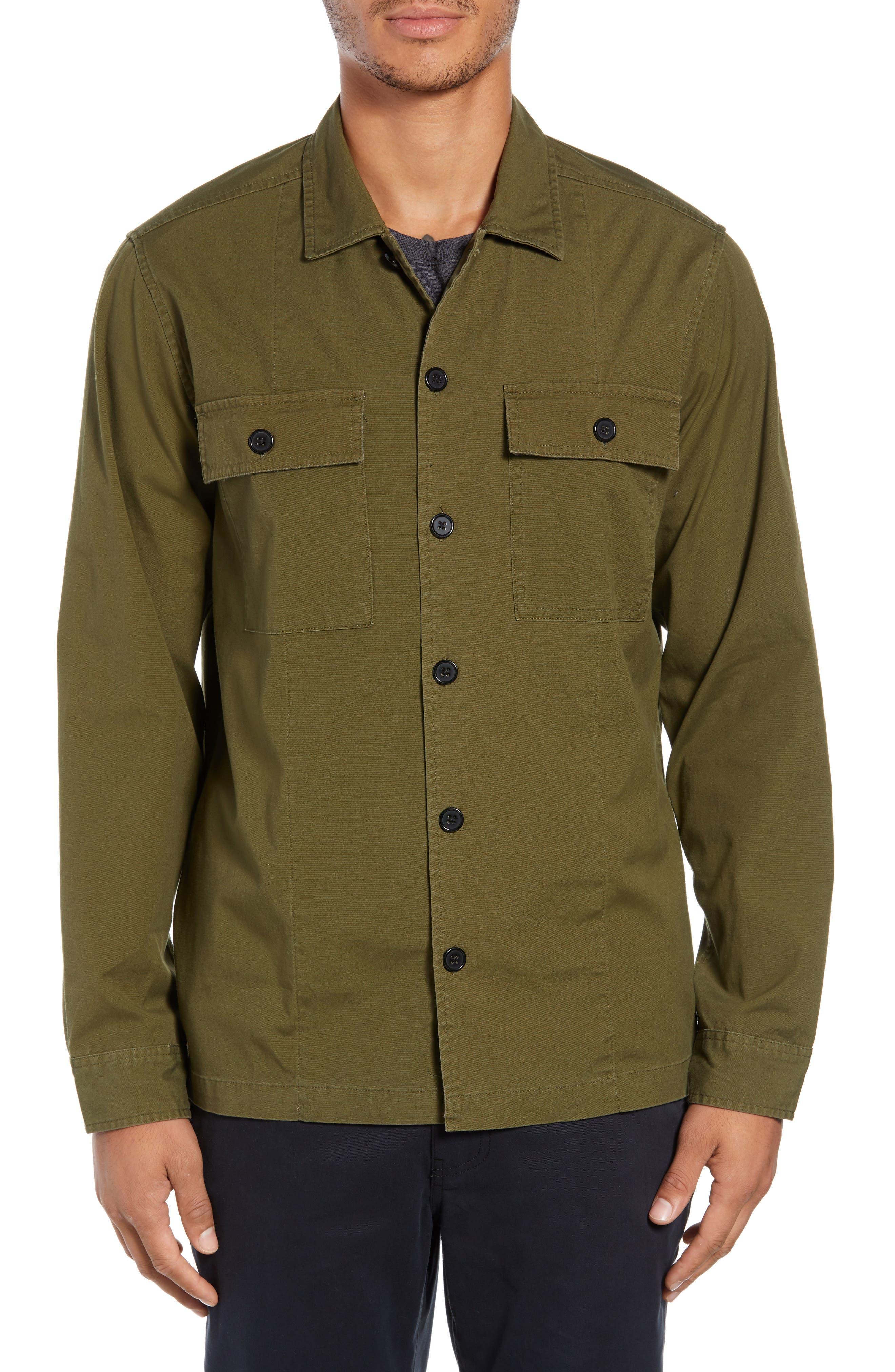 Lt. Dan Military Shirt Jacket,                             Alternate thumbnail 4, color,                             OLIVE CANVAS