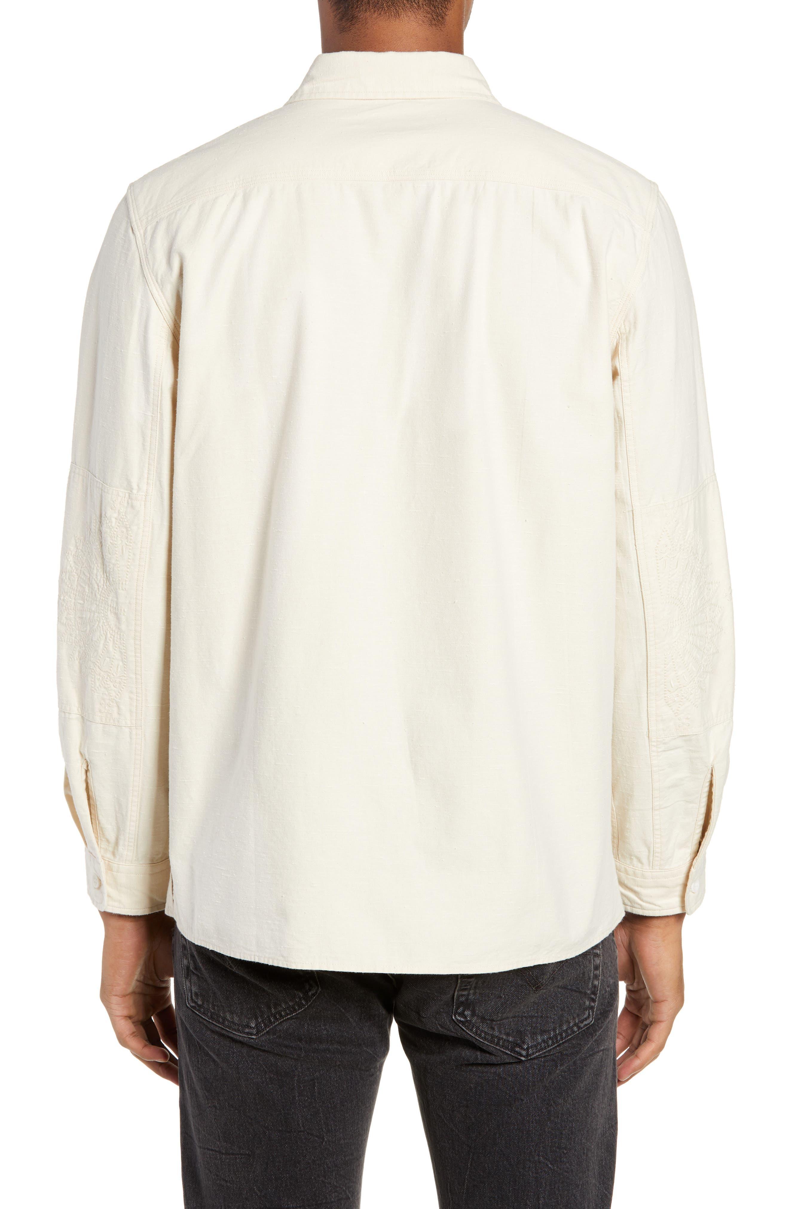 Workwear Regular Fit Shirt,                             Alternate thumbnail 3, color,                             PRISTINE