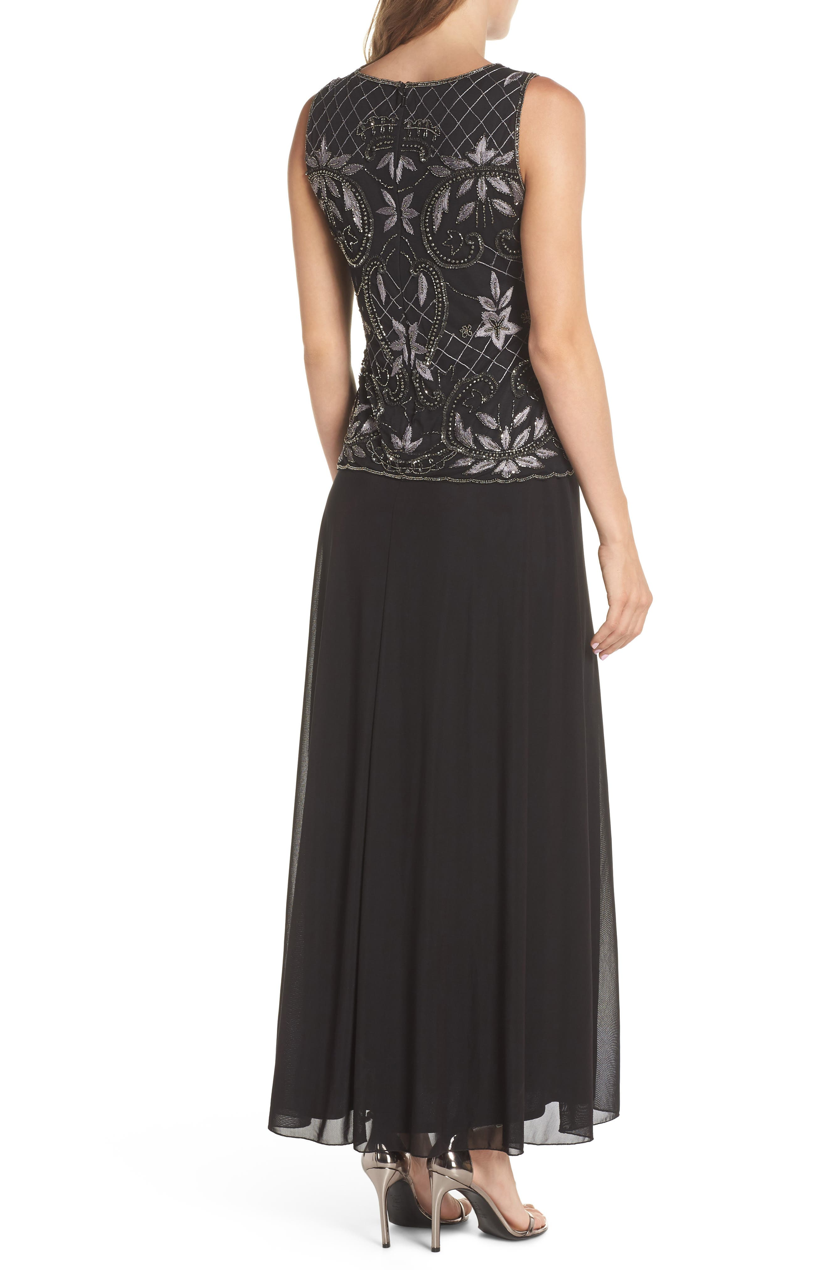 Embellished Mock Two-Piece Gown,                             Alternate thumbnail 2, color,                             008