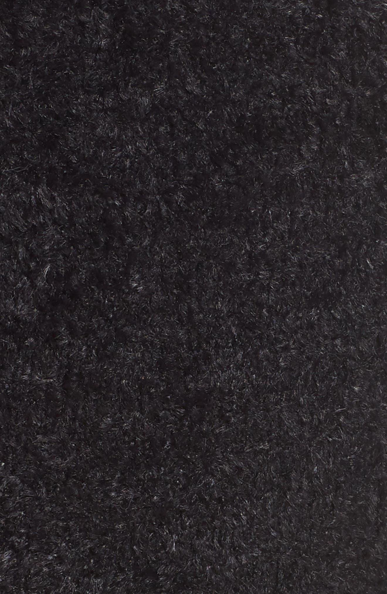 Fuzzy Lounge Shorts,                             Alternate thumbnail 5, color,                             BLACK