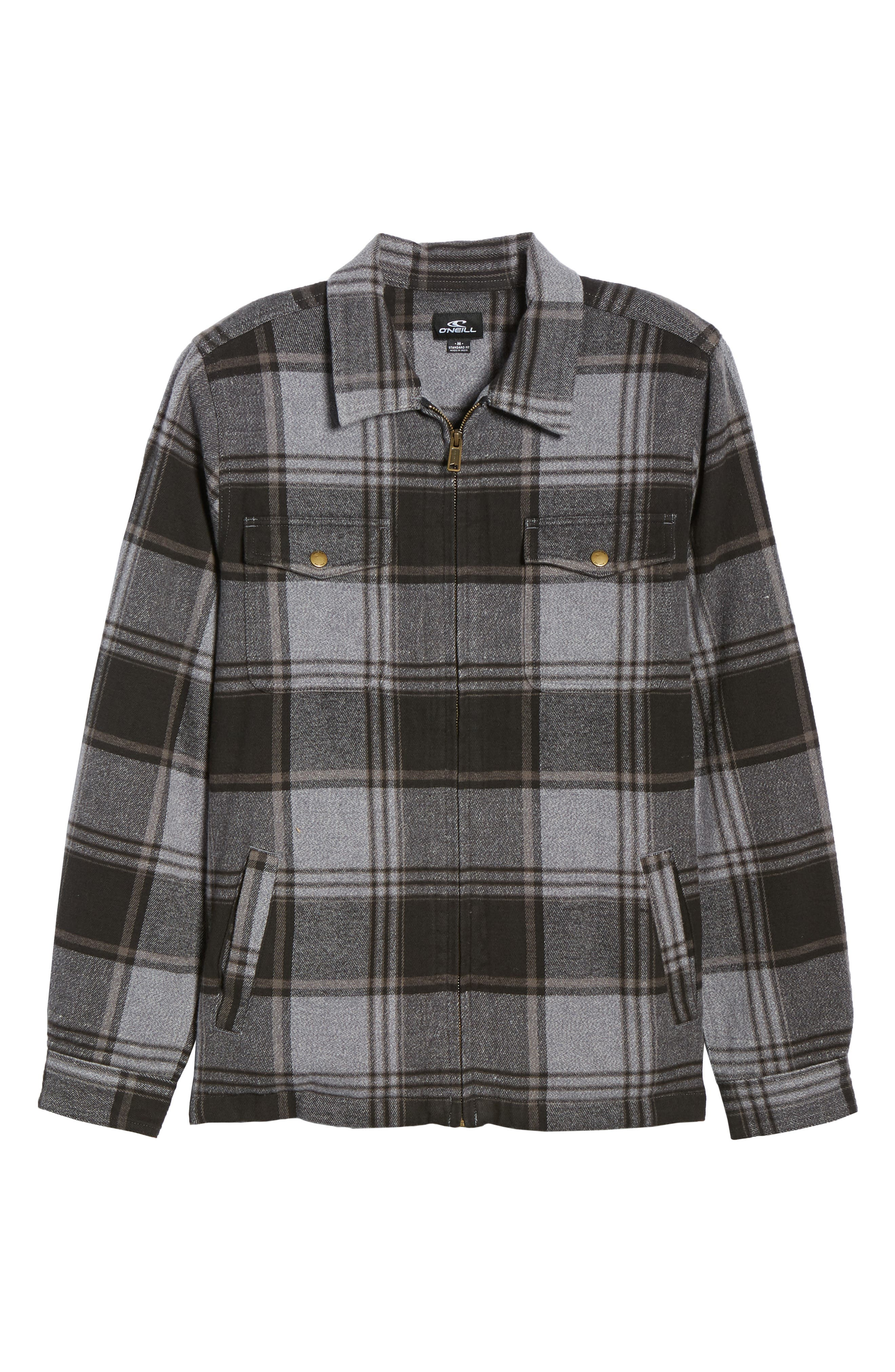 Lodge Flannel Shirt Jacket,                             Alternate thumbnail 3, color,                             ASPHALT