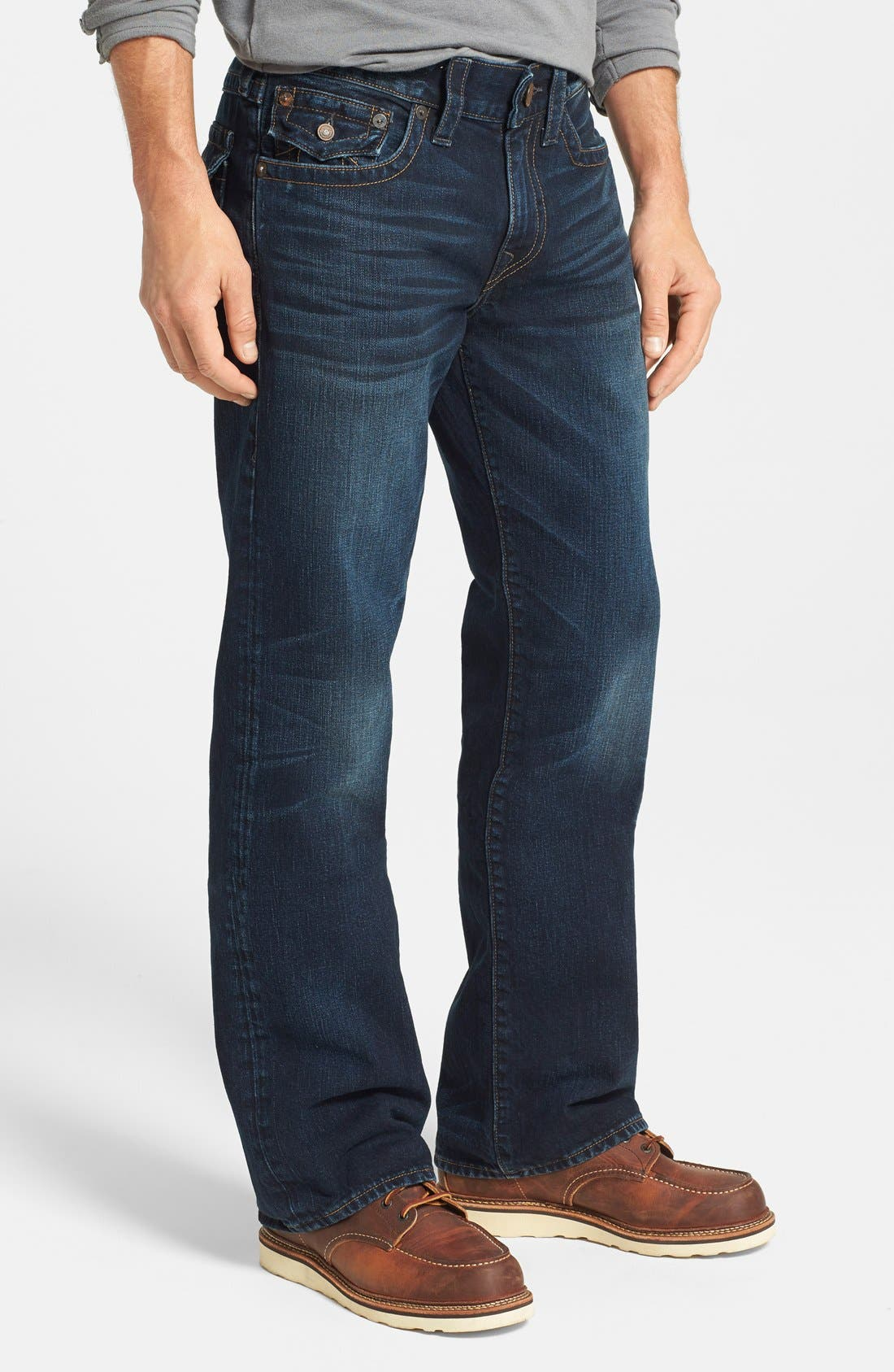 'Billy - Flap Core' Bootcut Jeans,                             Alternate thumbnail 4, color,                             400