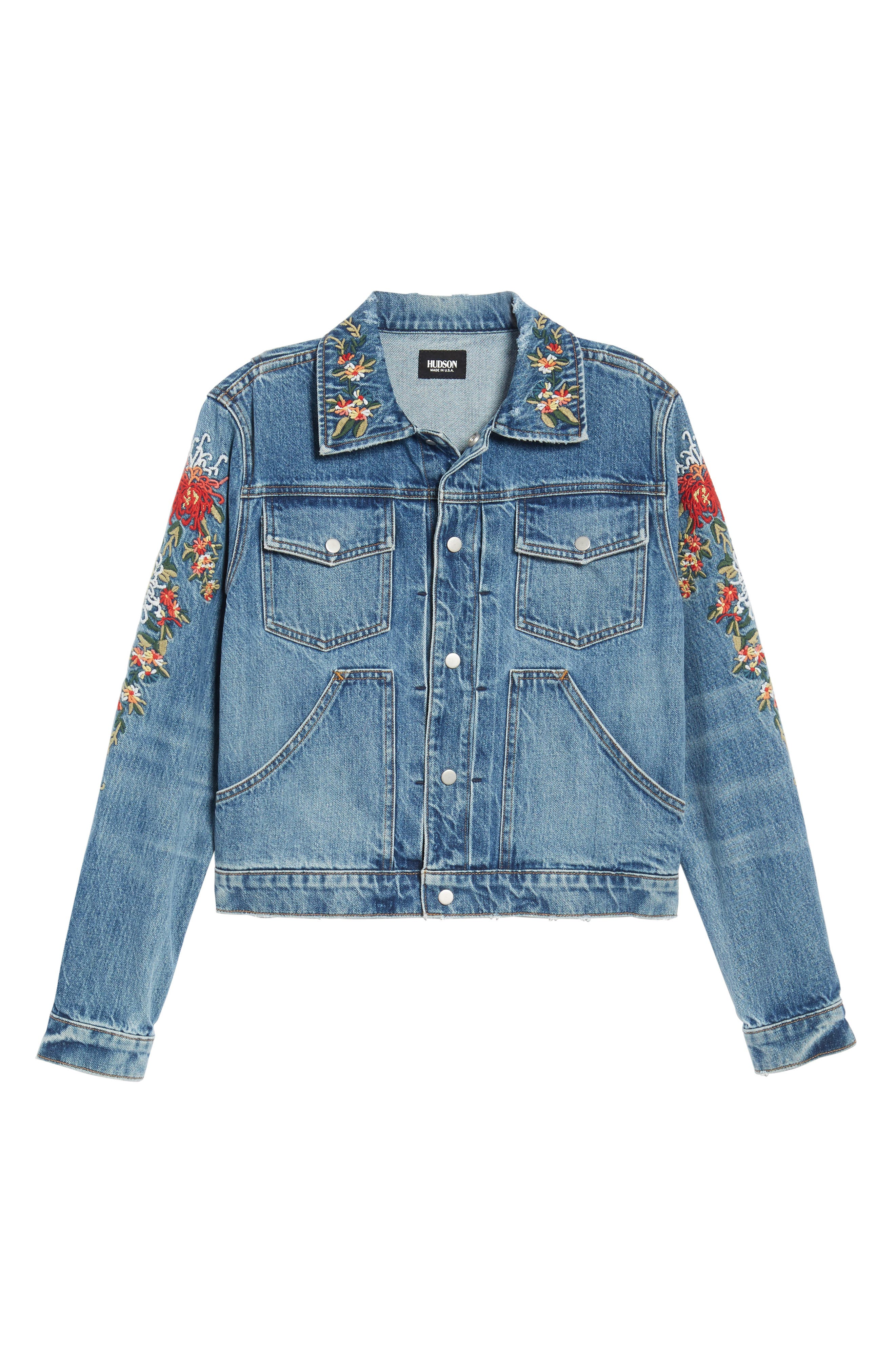 Ren Denim Trucker Jacket,                             Alternate thumbnail 10, color,